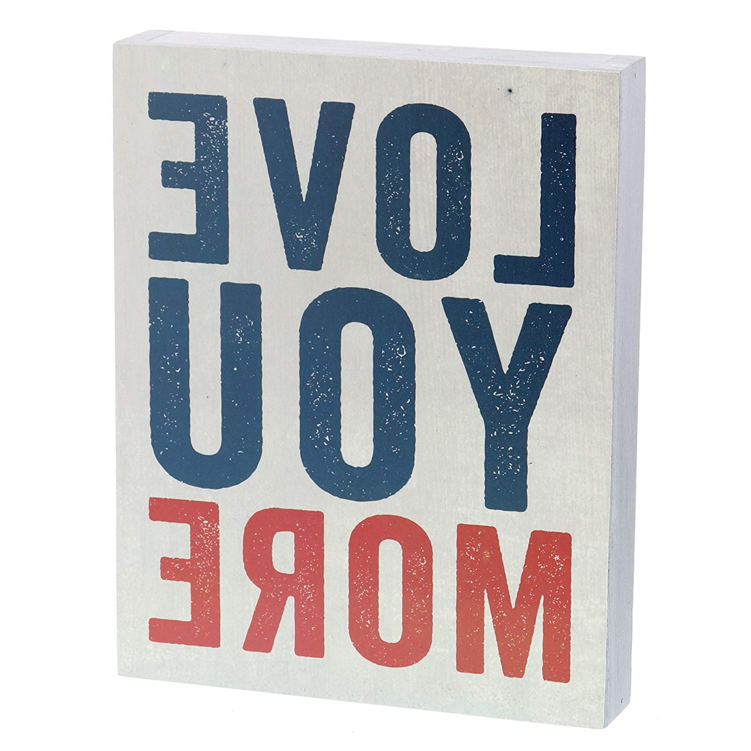 Newest Amazon: Barnyard Designs Love You More Wooden Box Wall Art Sign For 'love You More' Wood Wall Decor (View 14 of 20)