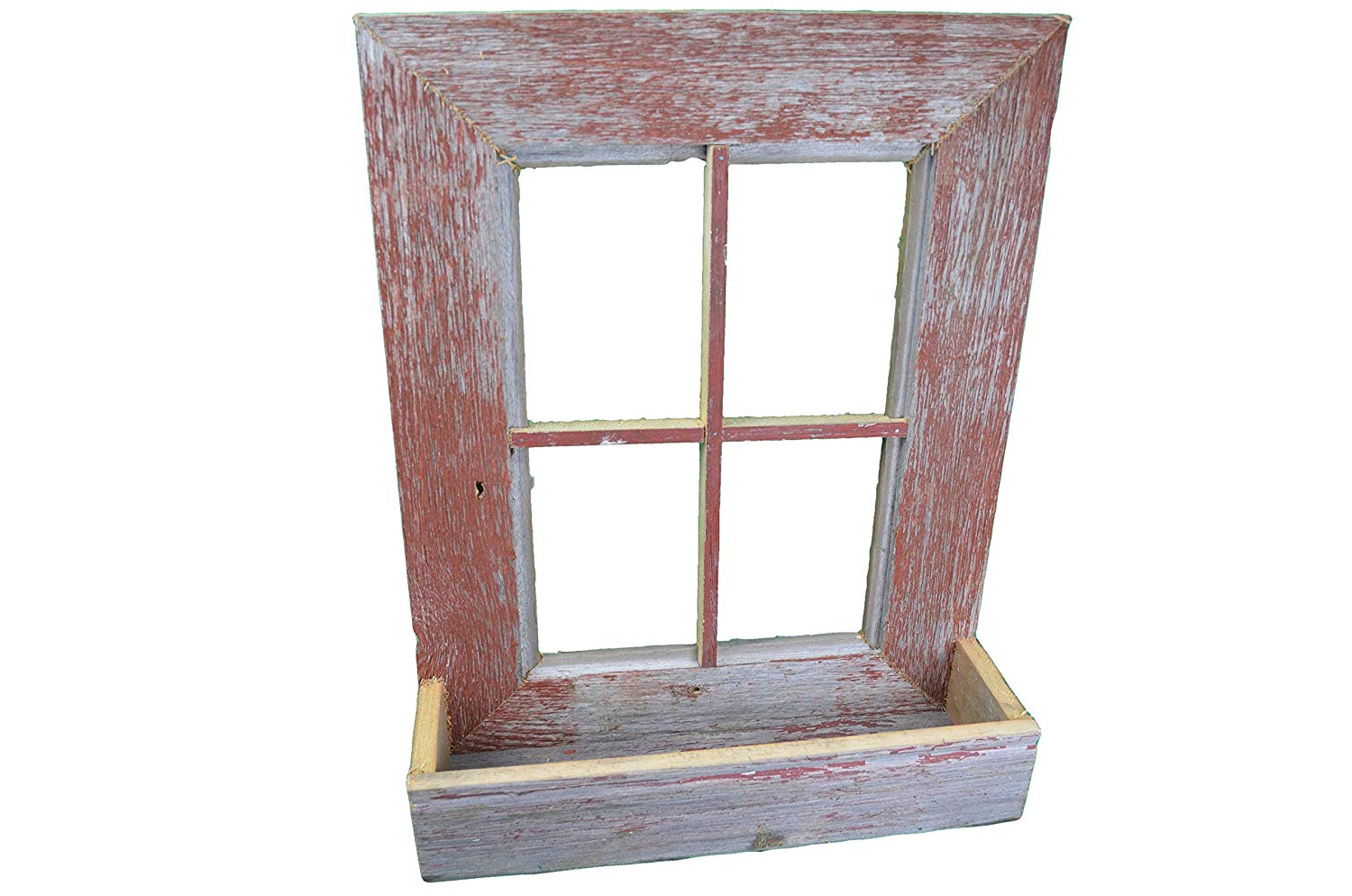 Newest Old Rustic Barn Window Frame Pertaining To Amazon : Amishwares, Collectible Handmade Barn Wood Window Frame (Gallery 11 of 20)
