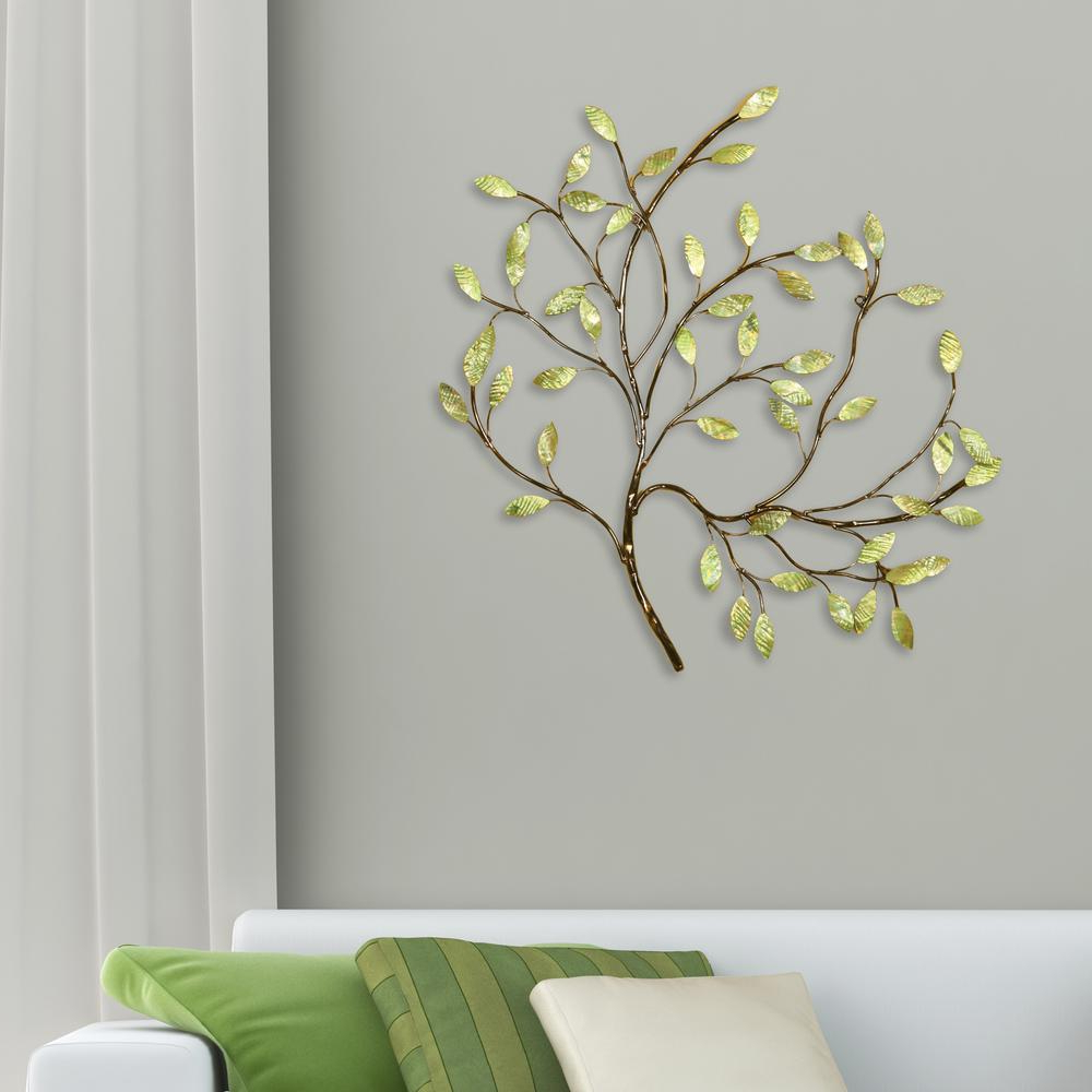 Oil Rubbed Metal Wall Decor For Best And Newest Oil Rubbed Bronze And Green Tree Metal Work Wall Decor 2159 – The (View 10 of 20)