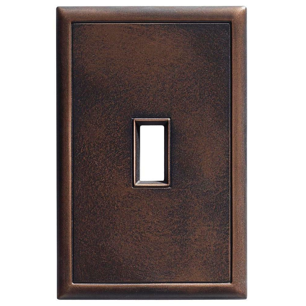 Oil Rubbed Metal Wall Decor Inside Trendy 6 Pack Lot Toggle 1 Screwless Cast Metal Wall Plate Oil Rubbed (View 13 of 20)