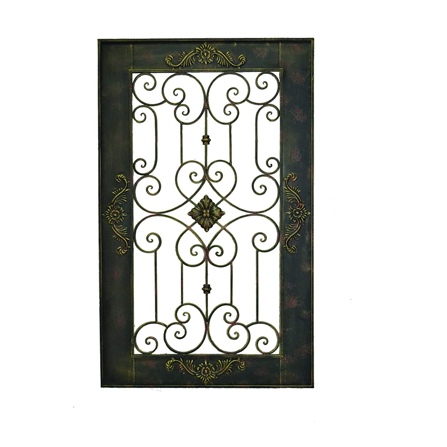 Oil Rubbed Metal Wall Decor Pertaining To Fashionable Amazon: Yosemite Home Decor Yacce Y14719 Iron Wall Decor, Black (View 14 of 20)