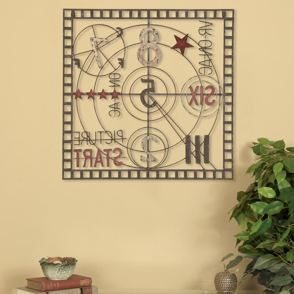 Oil Rubbed Metal Wall Decor Within Current Oil Rubbed Bronze Old Time Projection Metal Work Wall Decor  (View 16 of 20)