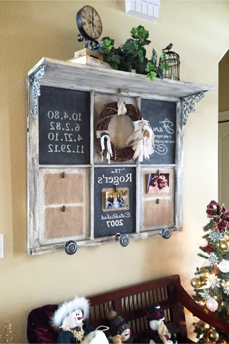 Old Window Frames Diy Ideas And Window Frame Crafts – Involvery For Most Current Old Rustic Barn Window Frame (View 12 of 20)