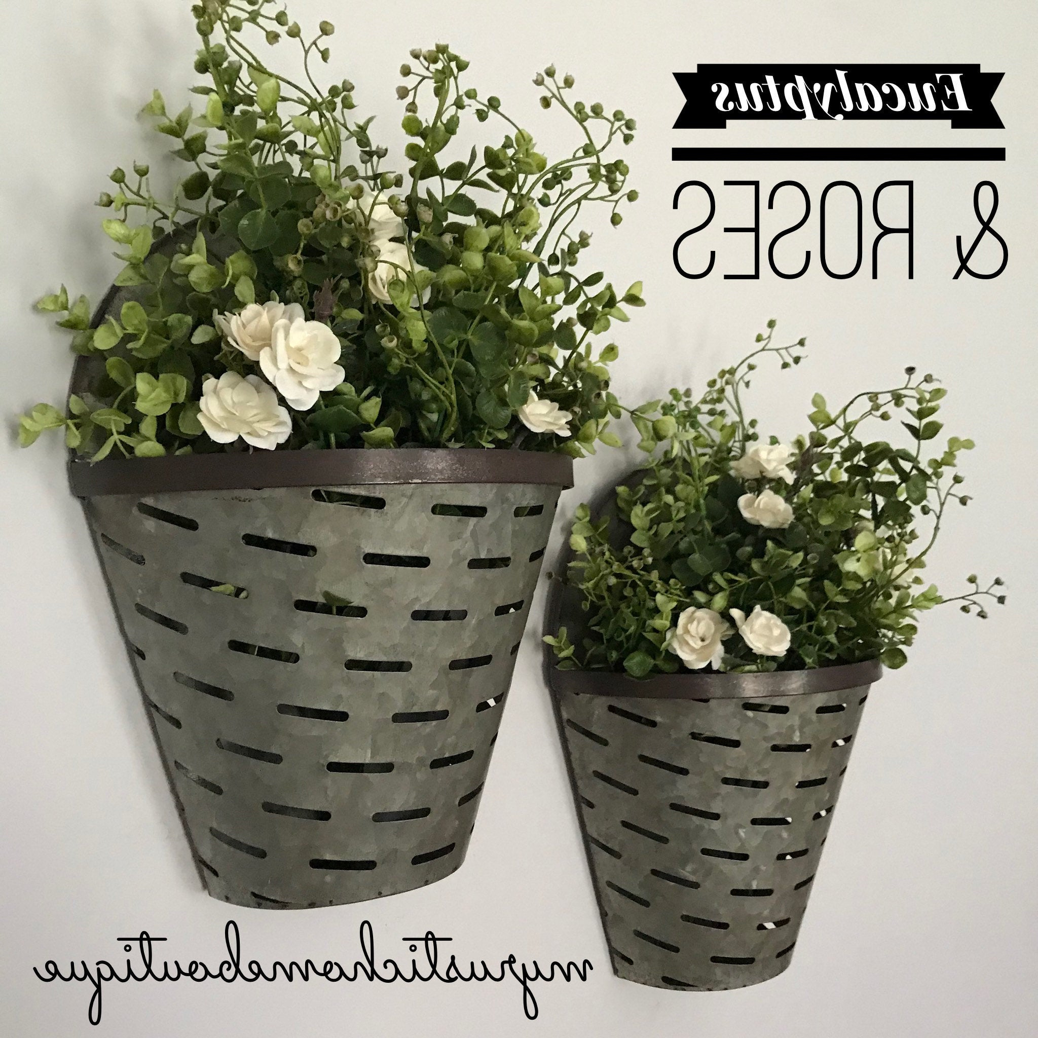 Olive/gray Metal Wall Decor With 2019 Olive Buckets Olive Bucket Wall Decor Large Olive Bucket (View 15 of 20)