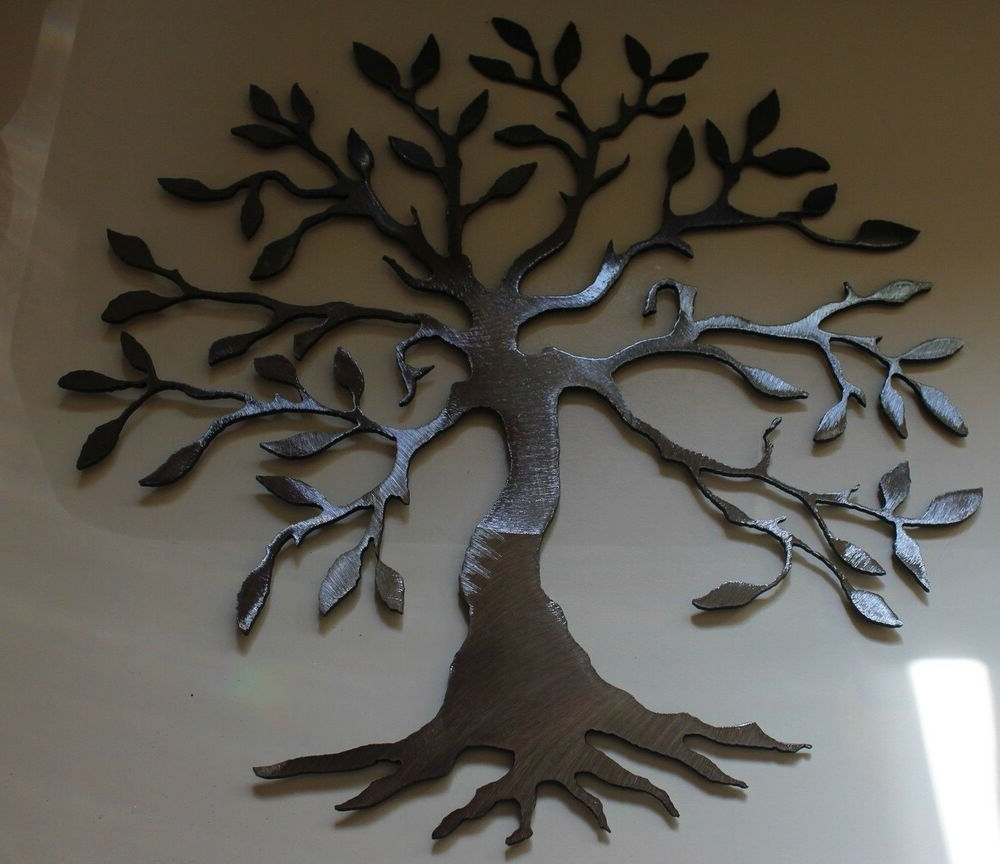 "Olive Tree –Tree Of Life Silver 20"" Metal Wall Art Decor (View 11 of 20)"