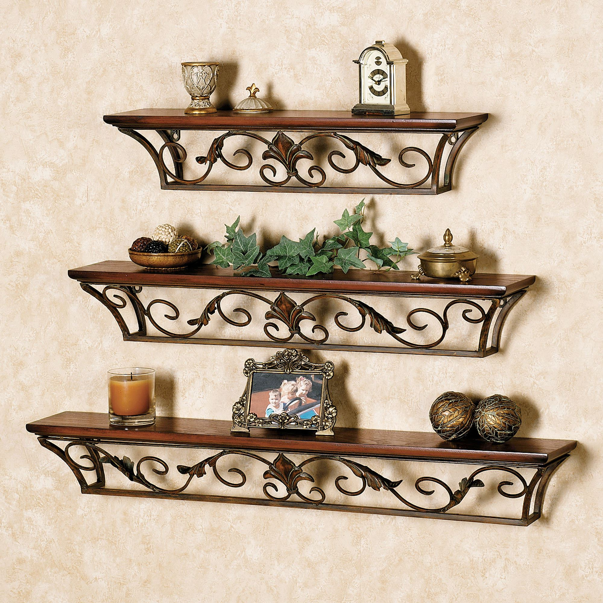 Ornamental Wood And Metal Scroll Wall Decor Pertaining To Most Popular Dagian Wall Shelves (Gallery 15 of 20)