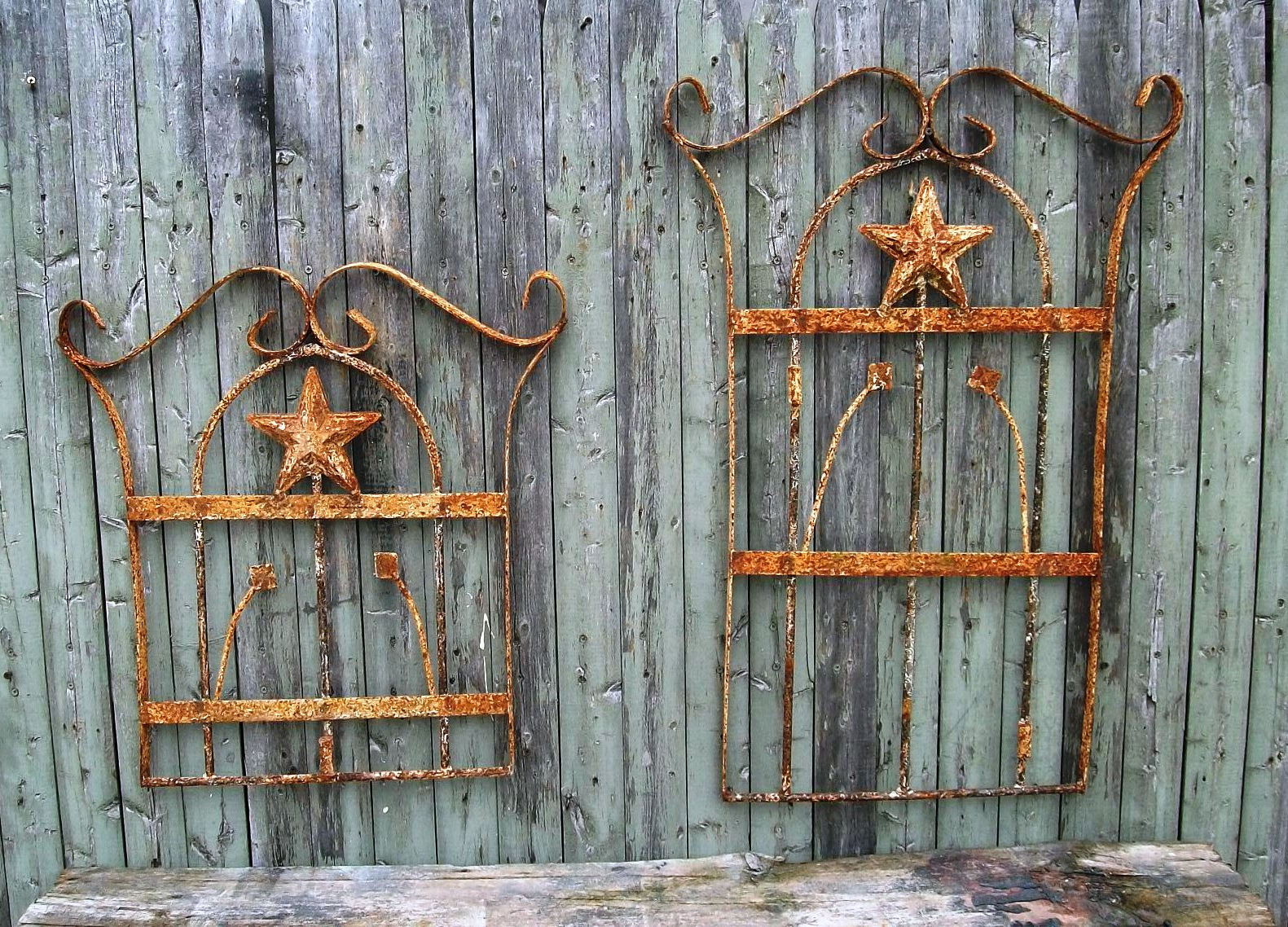 Ornamental Wood And Metal Scroll Wall Decor Pertaining To Recent Wrought Iron Outdoor Wall Decor Style (View 11 of 20)