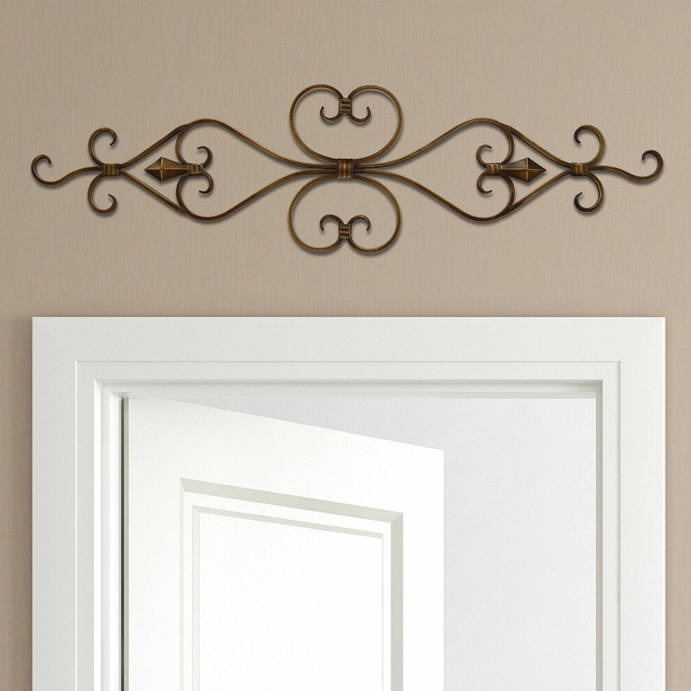 Ornamental Wood And Metal Scroll Wall Decor Regarding Newest Stratton Home Decor Scroll Metal Wall Decor 36X10 New  (View 12 of 20)