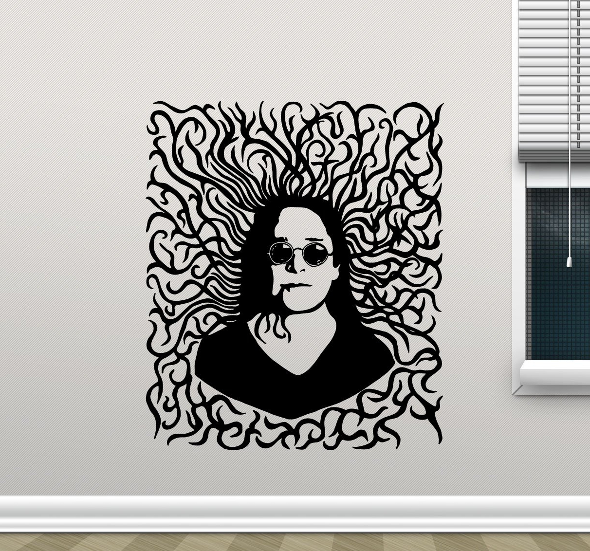 Osbourne Wall Decor For Trendy Ozzy Osbourne Wall Decal Rock Metal Music Vinyl Sticker Living Room (View 9 of 20)