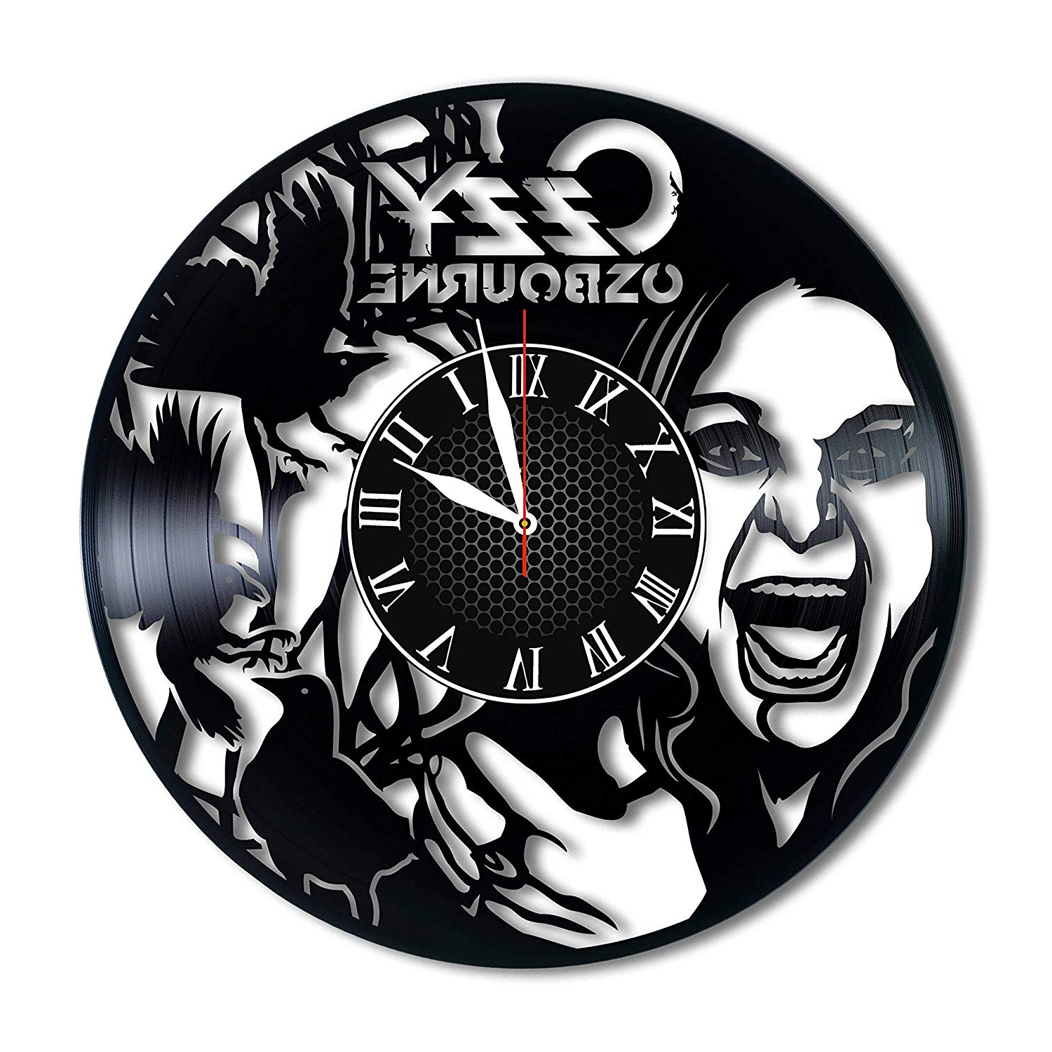 Osbourne Wall Decor Inside Favorite Amazon: Ozzy Osbourne Vinyl Clock Ozzy Osbourne Wall Decor Ozzy (Gallery 1 of 20)
