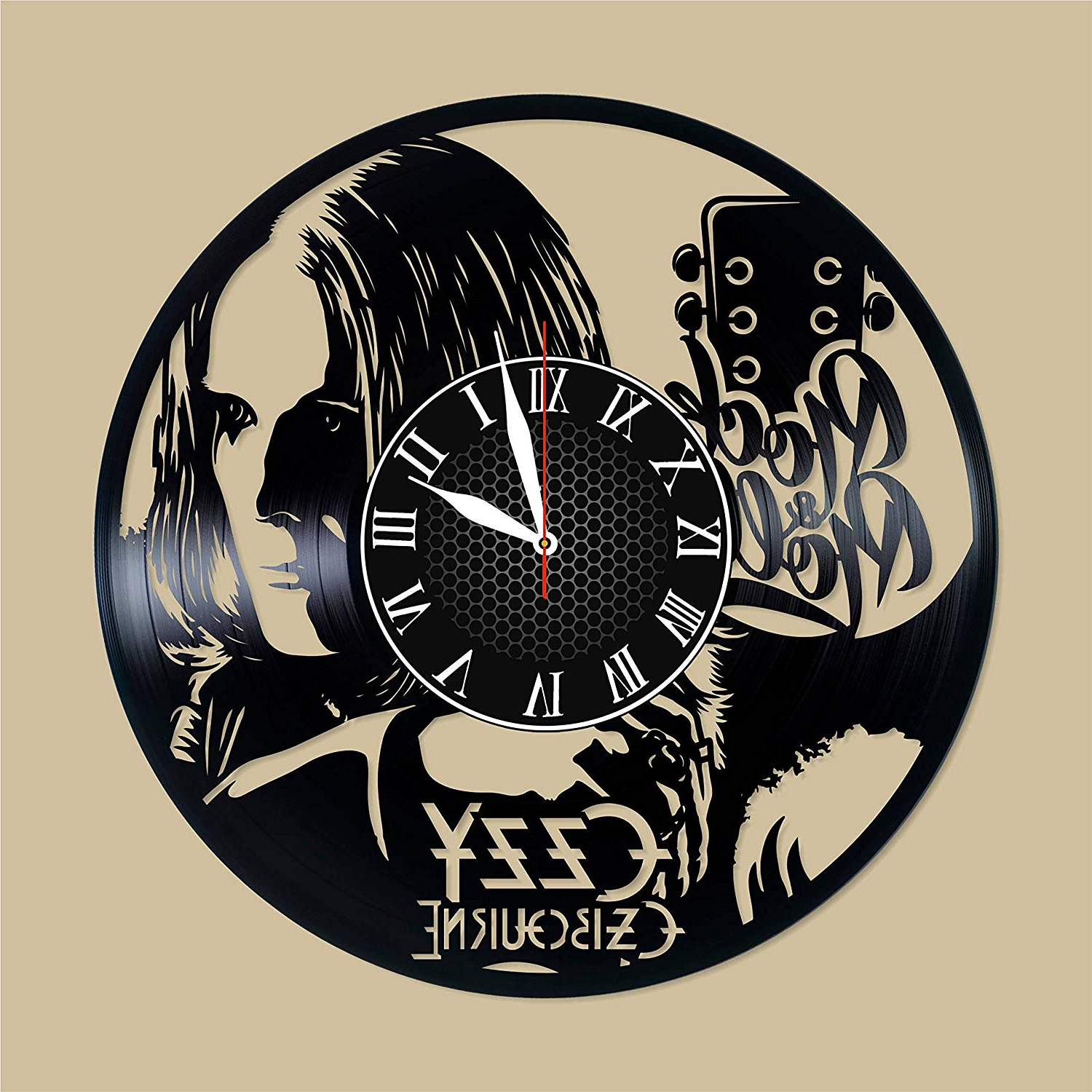 Osbourne Wall Decor Inside Well Known Amazon: Ozzy Osbourne Vinyl Clock Ozzy Osbourne Wall Decor Ozzy (View 11 of 20)