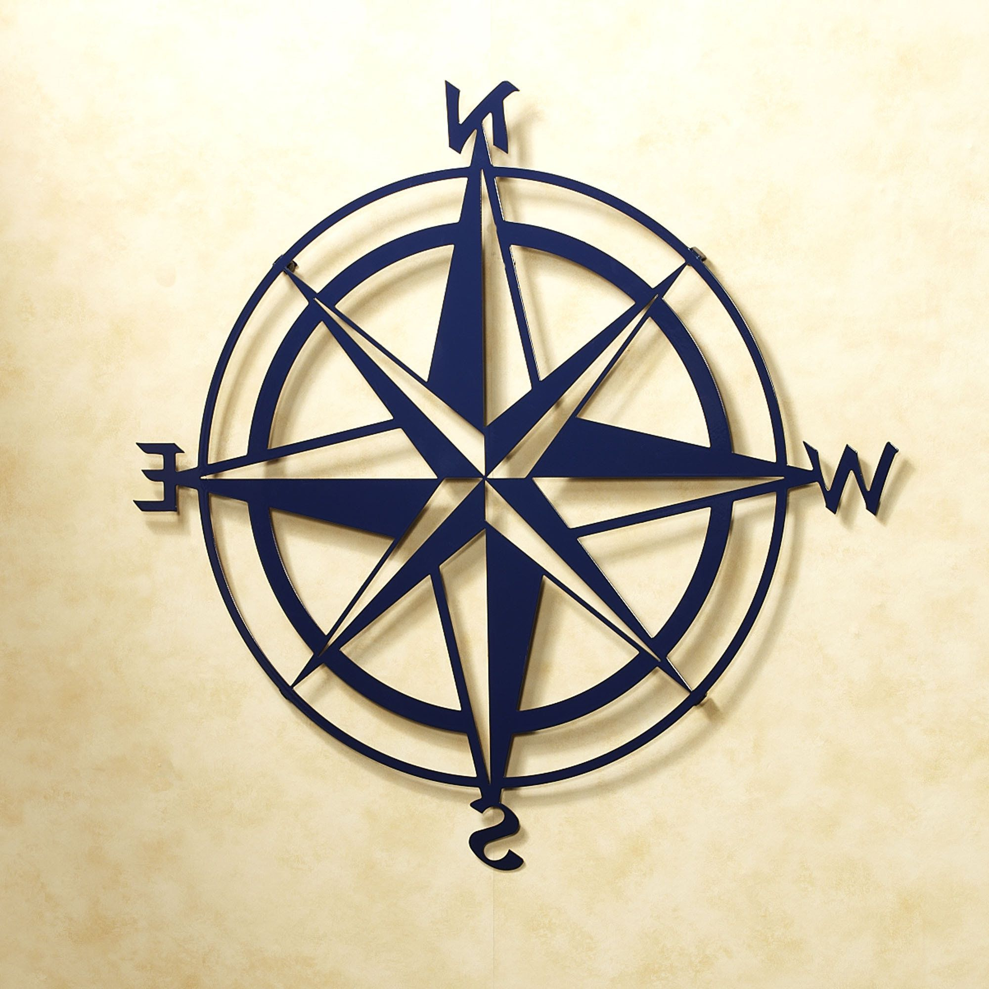 Outdoor Metal Wall Compass Pertaining To Favorite Compass Rose Indoor Outdoor Metal Wall Art (View 13 of 20)