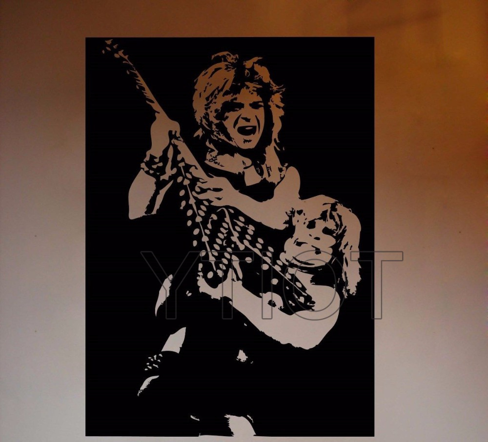 Ozzy Osbourne And Randy Rhoads Wall Sticker Metal Music Vinyl Decal Pertaining To Best And Newest Osbourne Wall Decor (View 8 of 20)