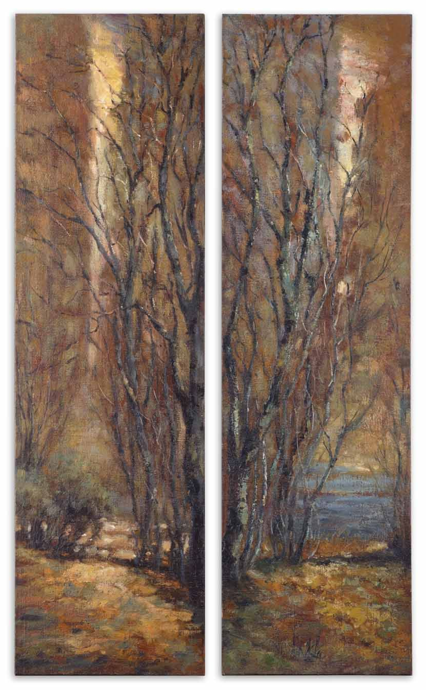 Panel Wall Art, Tree Wall For 2 Piece Panel Wood Wall Decor Sets (Set Of 2) (View 13 of 20)