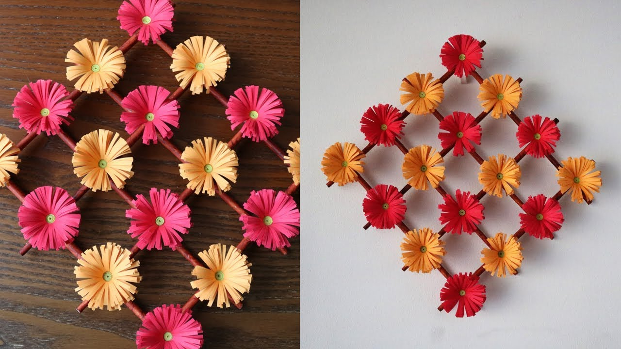 Paper Flower Wall Hanging – Diy Hanging Flower – Wall Decoration Regarding Widely Used Floral Patterned Over The Door Wall Decor (Gallery 15 of 20)