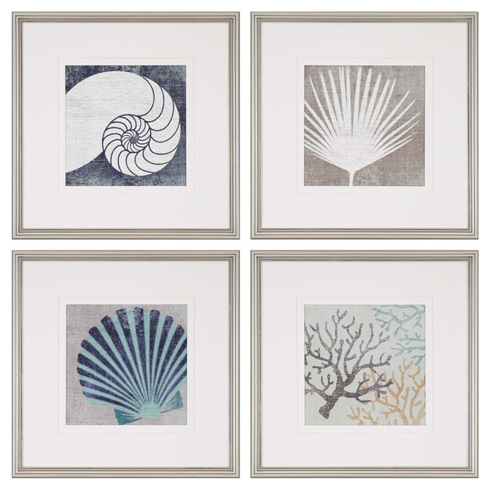 Paragon Coastal Ii Framed Wall Art – Set Of 4 In  (View 12 of 20)