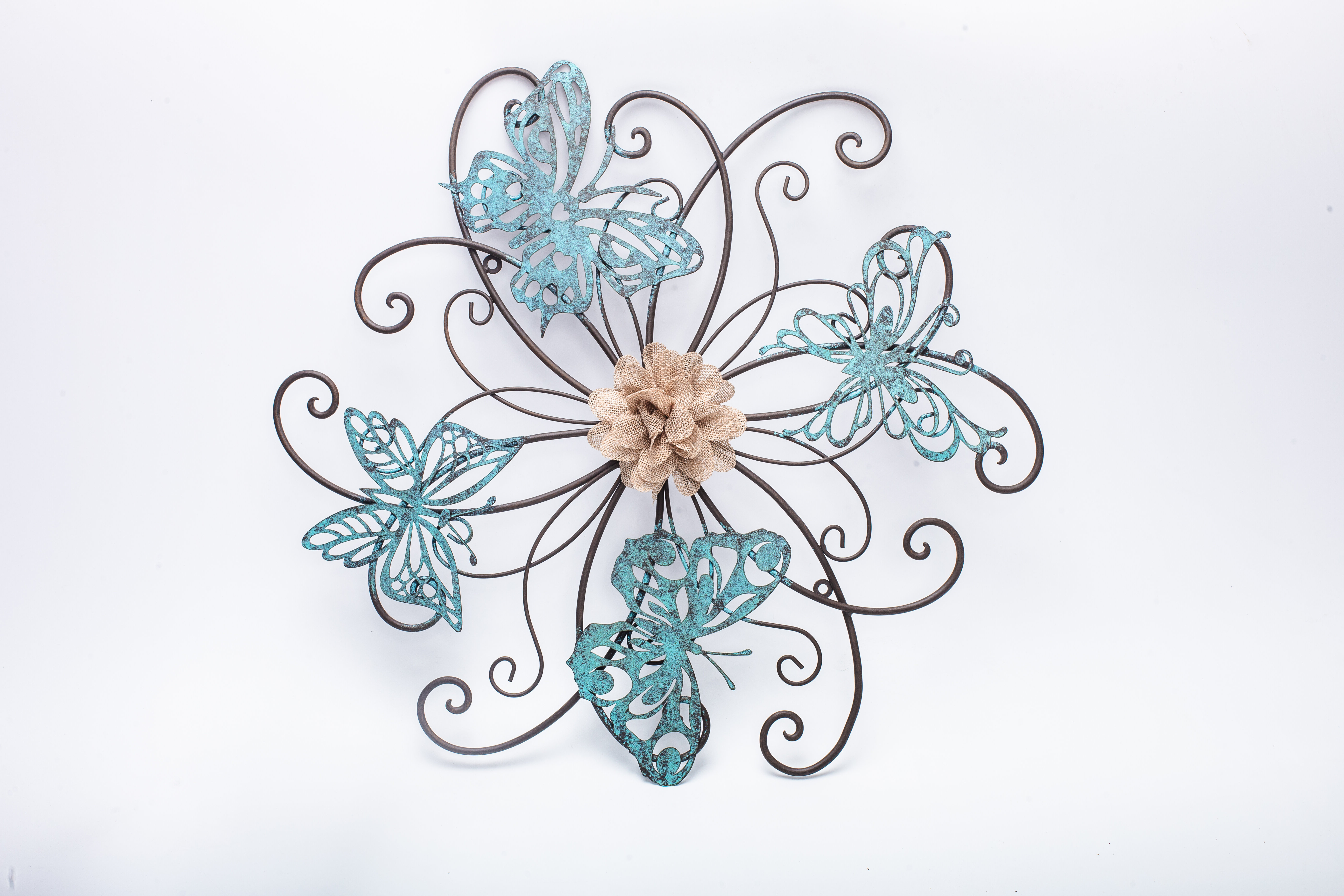 Popular Adecotrading Flower And Butterfly Urban Design Metal Wall Décor Within Raheem Flowers Metal Wall Decor (Gallery 12 of 20)