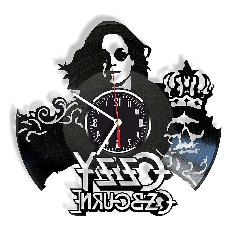 Popular Amazon: Rosidesignstudio Ozzy Osbourne Vinyl Wall Clock Modern In Osbourne Wall Decor (View 9 of 20)