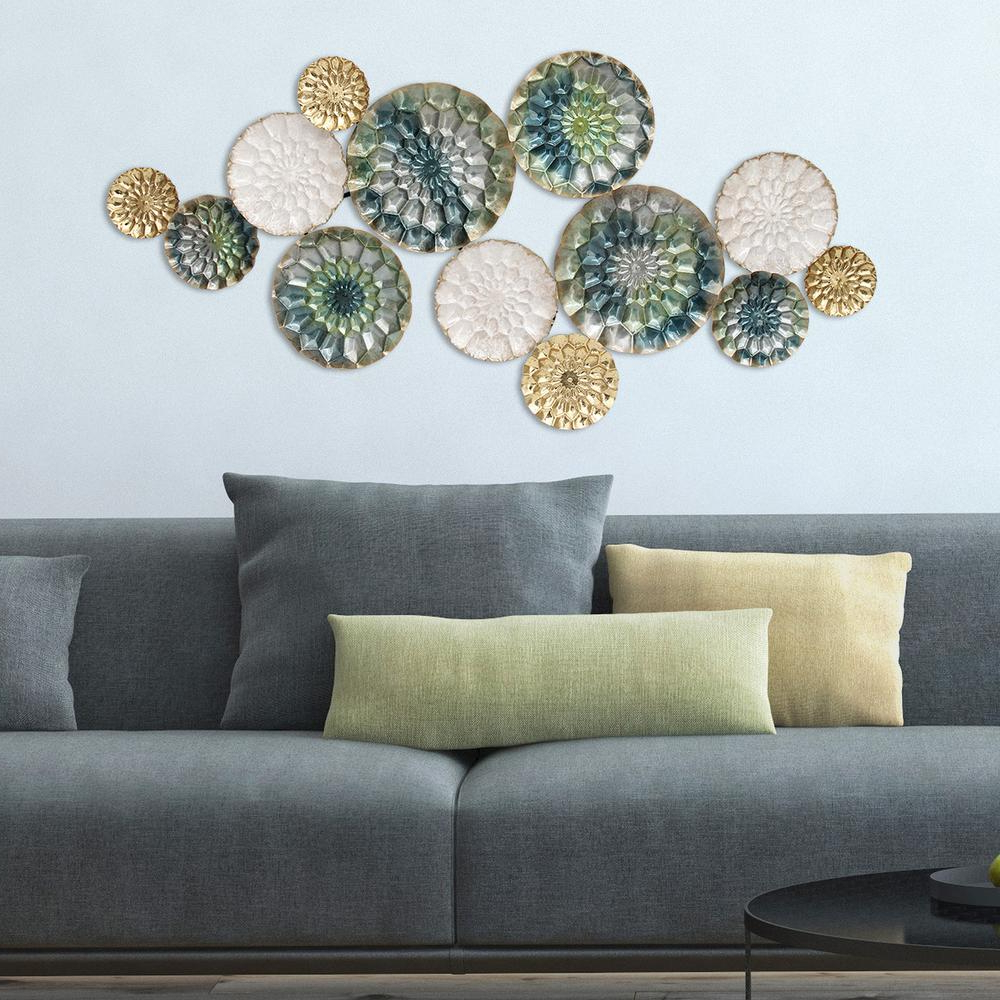 Popular Multi Plates Wall Decor In Stratton Home Decor Santorini Metal Wall Decor S07661 – The Home Depot (View 4 of 20)