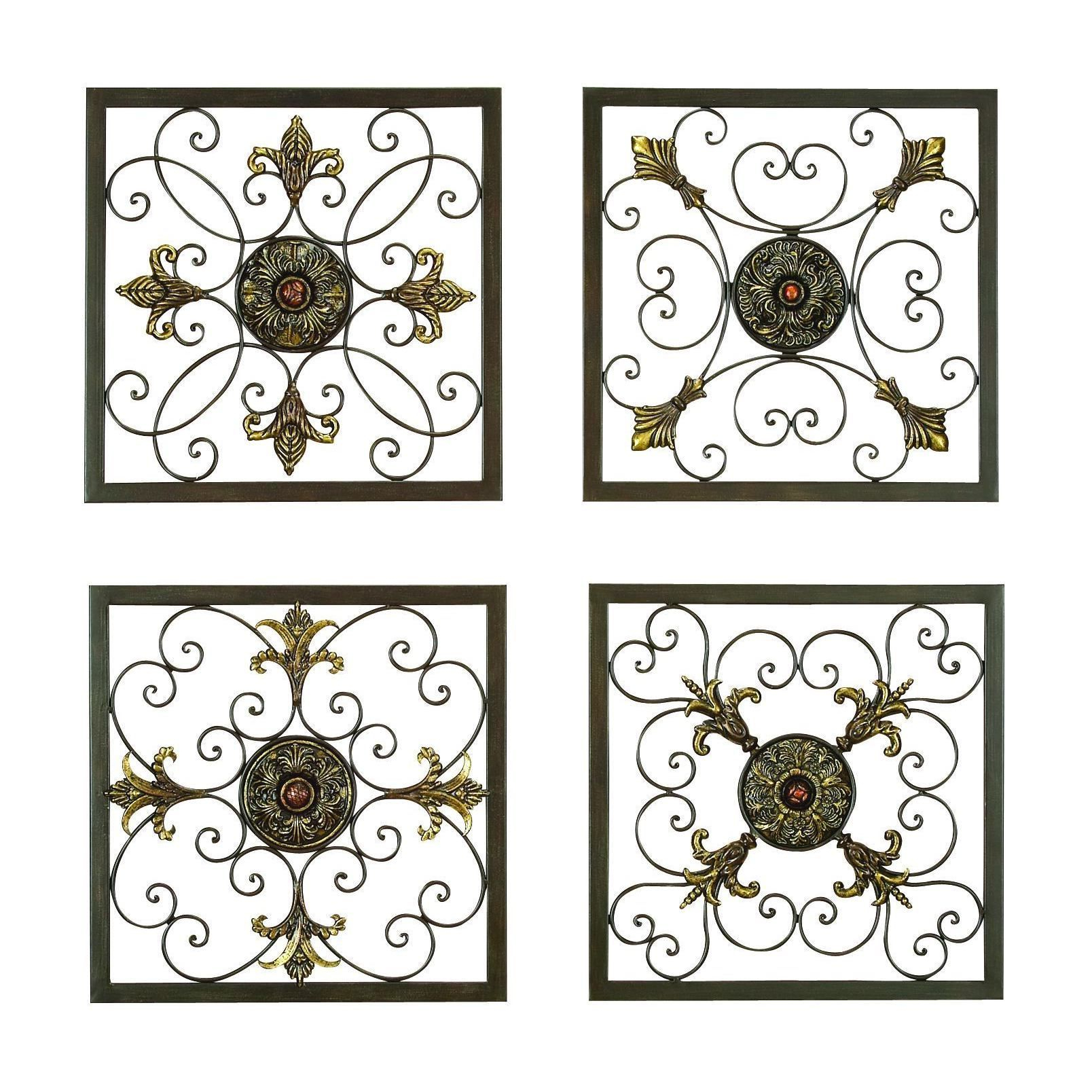 Popular Ornate Scroll Wall Decor For These Gorgeous Square Wall Plaques Adds A Distinctive Touch Of (View 13 of 20)