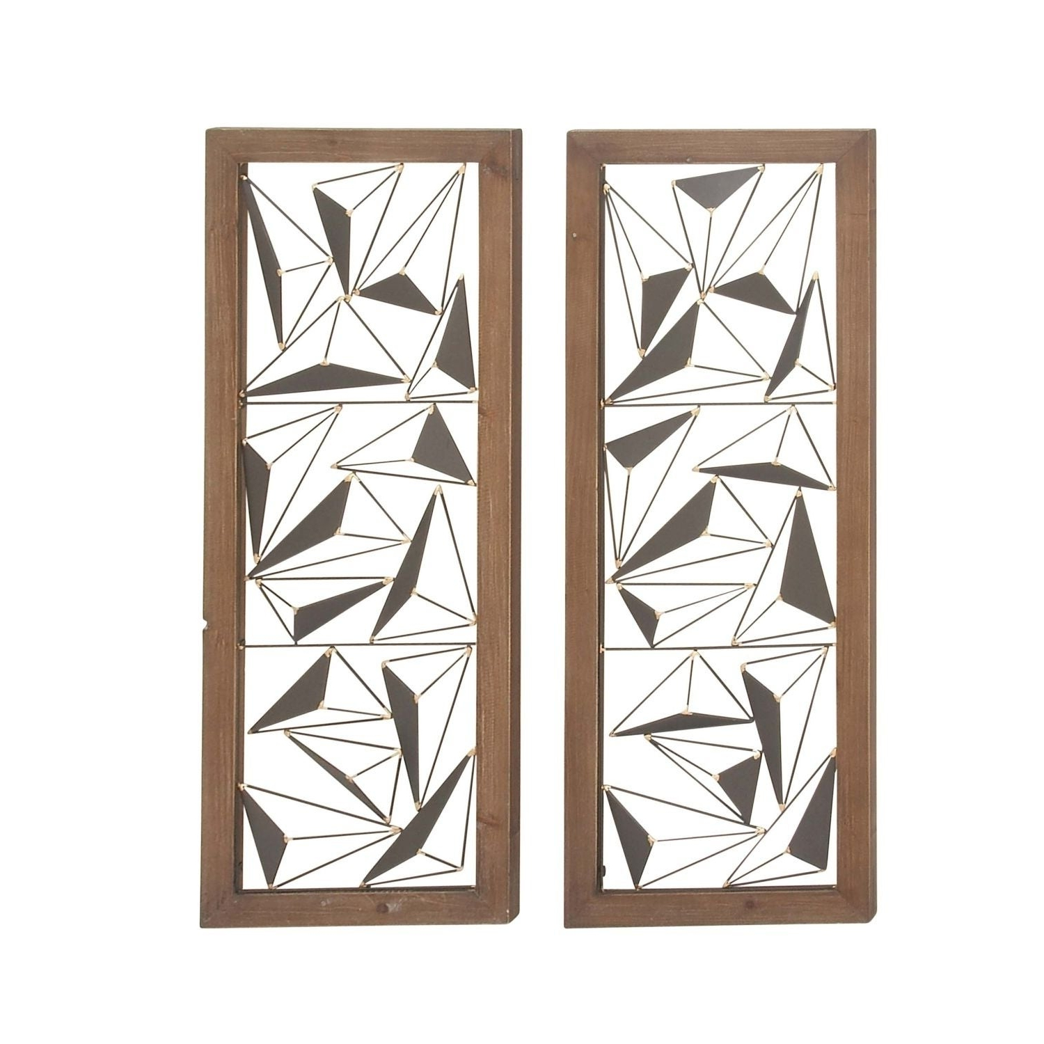 Preferred 2 Piece Panel Wood Wall Decor Sets (Set Of 2) In Shop Carson Carrington Orivesi 2 Piece Wood Metal Wall Decor Set (Gallery 1 of 20)