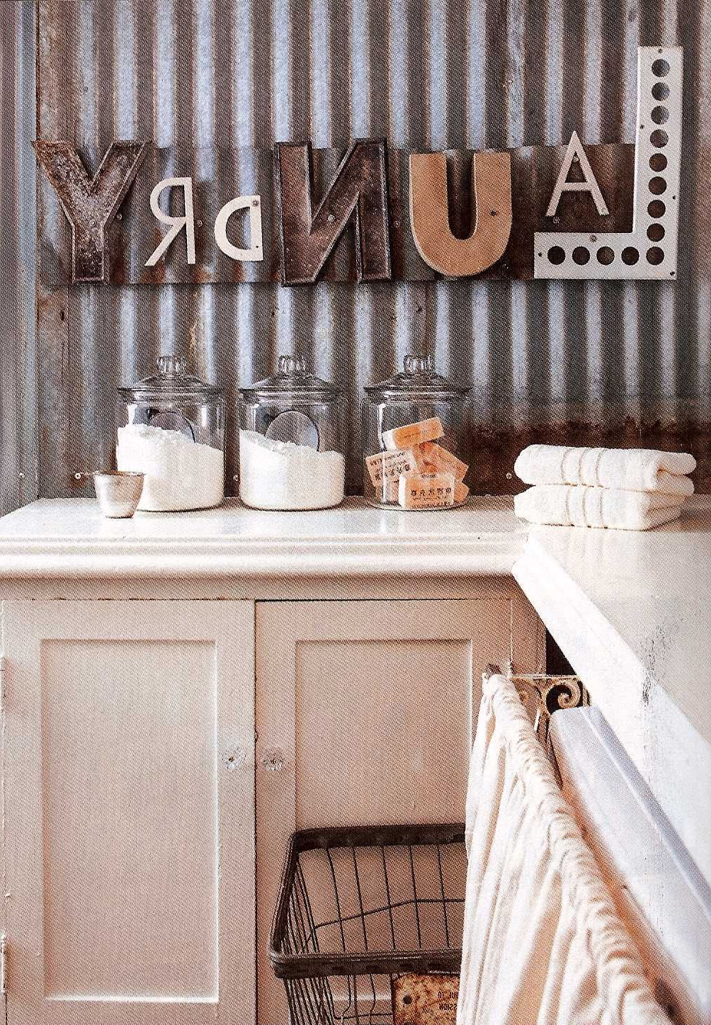 Preferred Fabulous Laundry Room With Laundry Repurposed Letters As Wall Decor Intended For Metal Laundry Room Wall Decor (View 4 of 20)