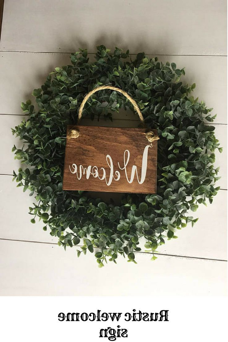 Preferred Rustic Welcome Sign Rustic Front Door Sign Welcome Decor With Tree Welcome Sign Wall Decor (Gallery 12 of 20)