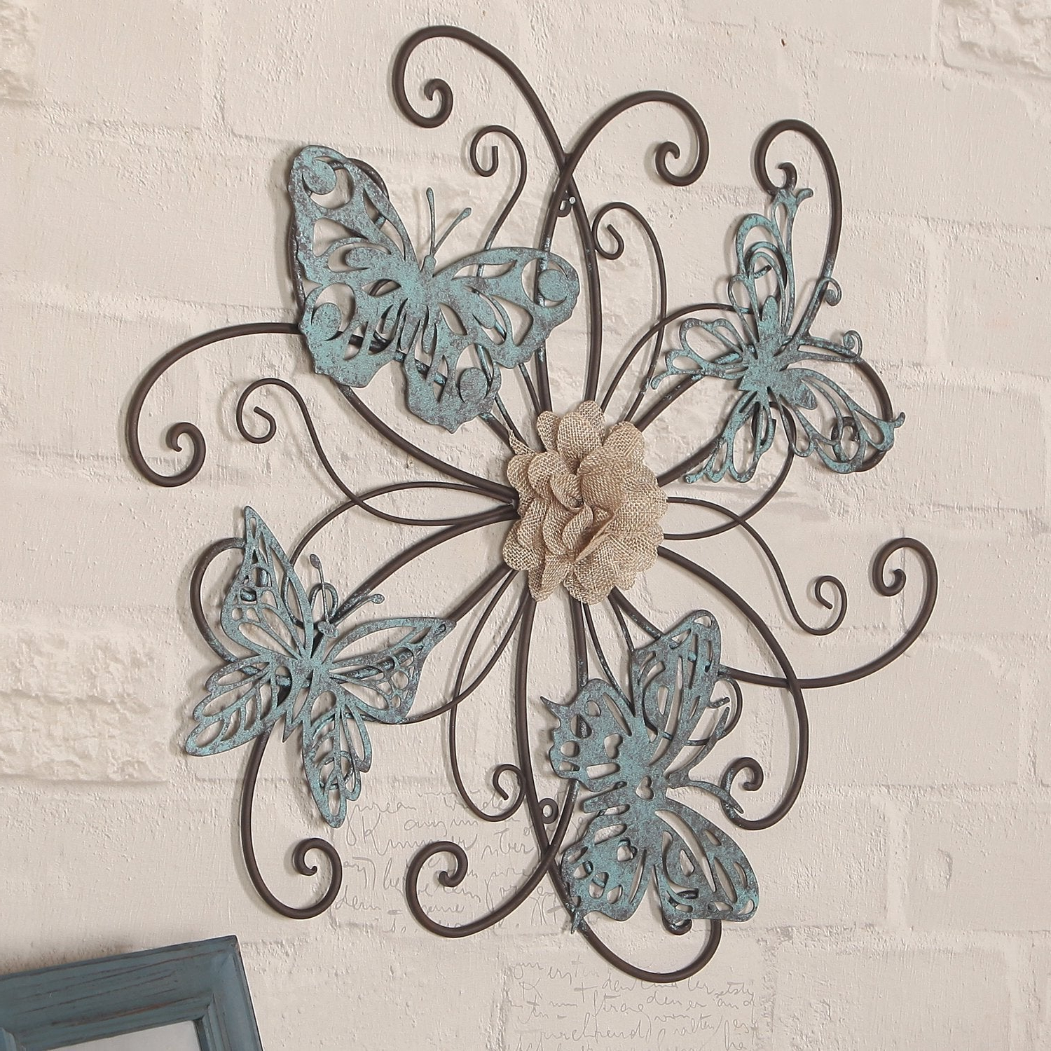 Preferred Shop Adeco Flower And Butterfly Urban Design Metal Wall Decor For Intended For Flower And Butterfly Urban Design Metal Wall Decor (View 5 of 20)