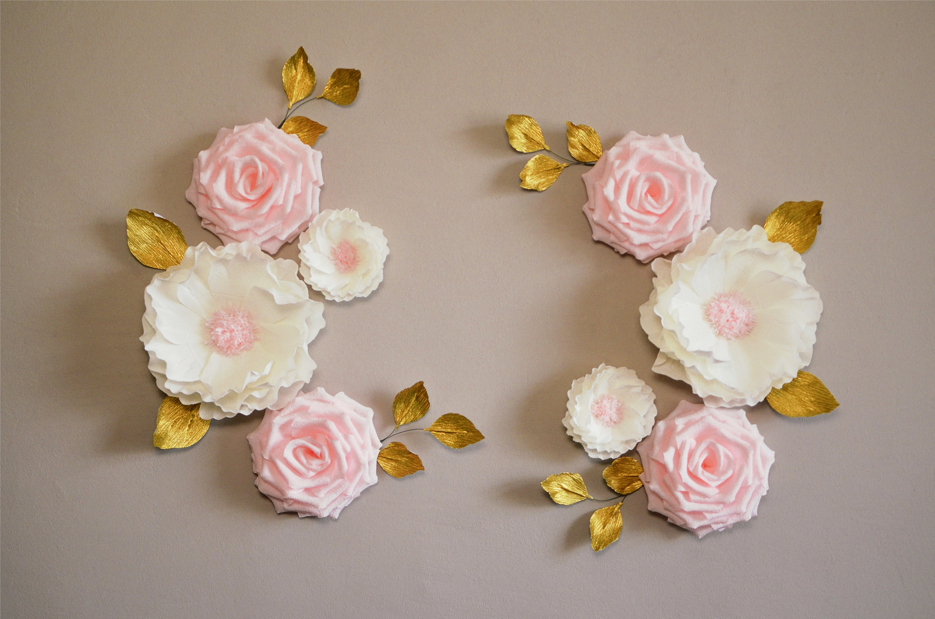 Preferred Wall Flowers Paper Flowers Wall Decor Nursery Flowers Paper (Gallery 4 of 20)