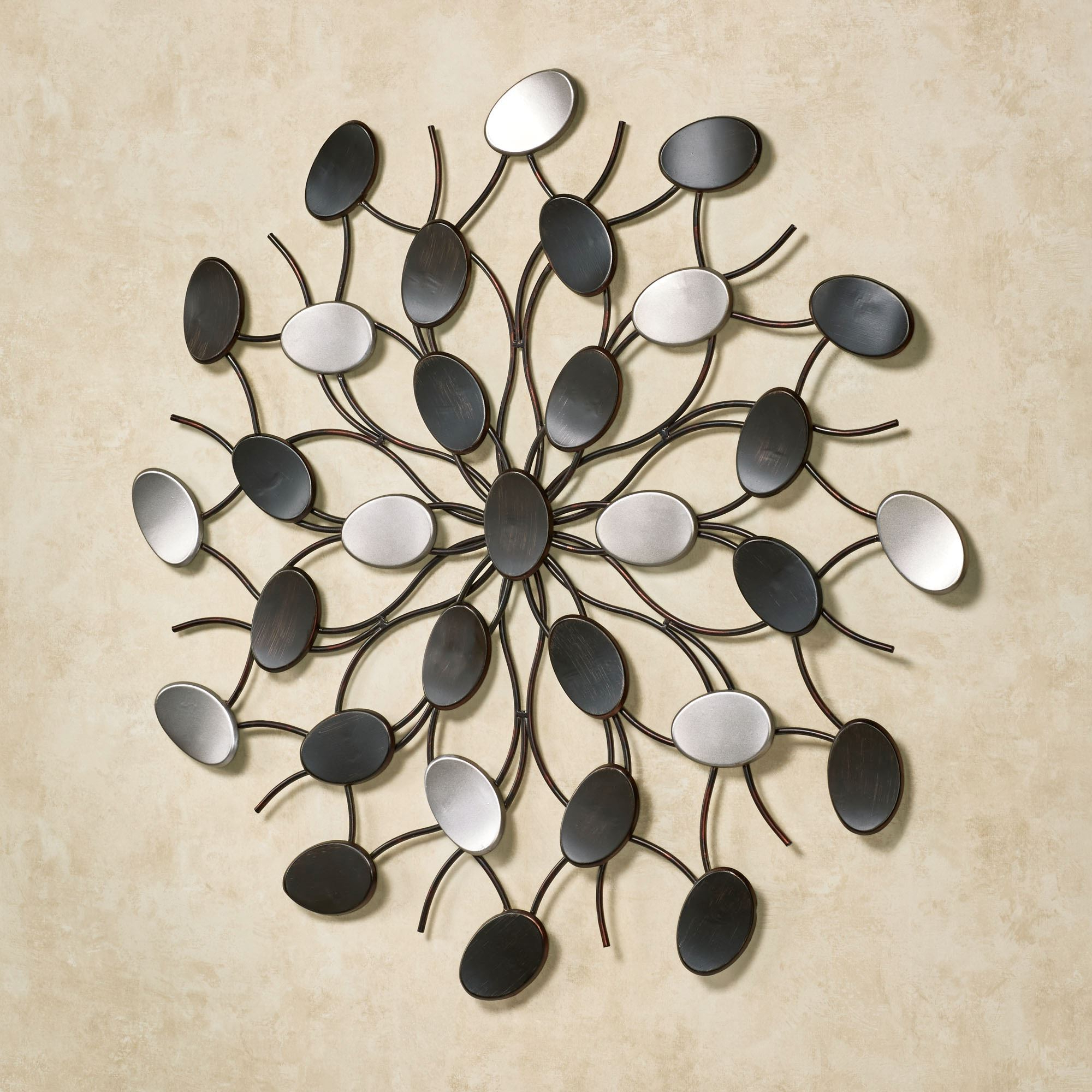 Radiant Petals Abstract Metal Wall Art For Well Known Contemporary Abstract Round Wall Decor (Gallery 4 of 20)