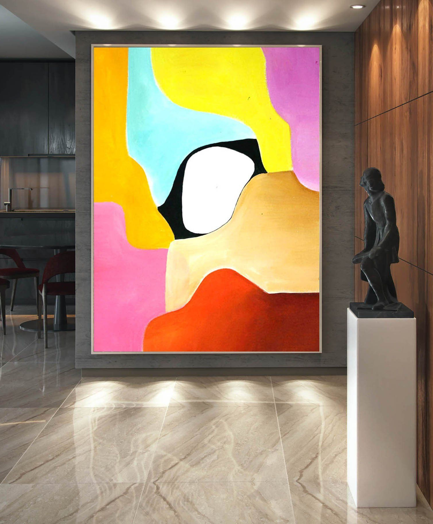 Recent Abstract Painting On Canvas – Extra Large Wall Art, Contemporary Art Within Large Modern Industrial Wall Decor (View 16 of 20)