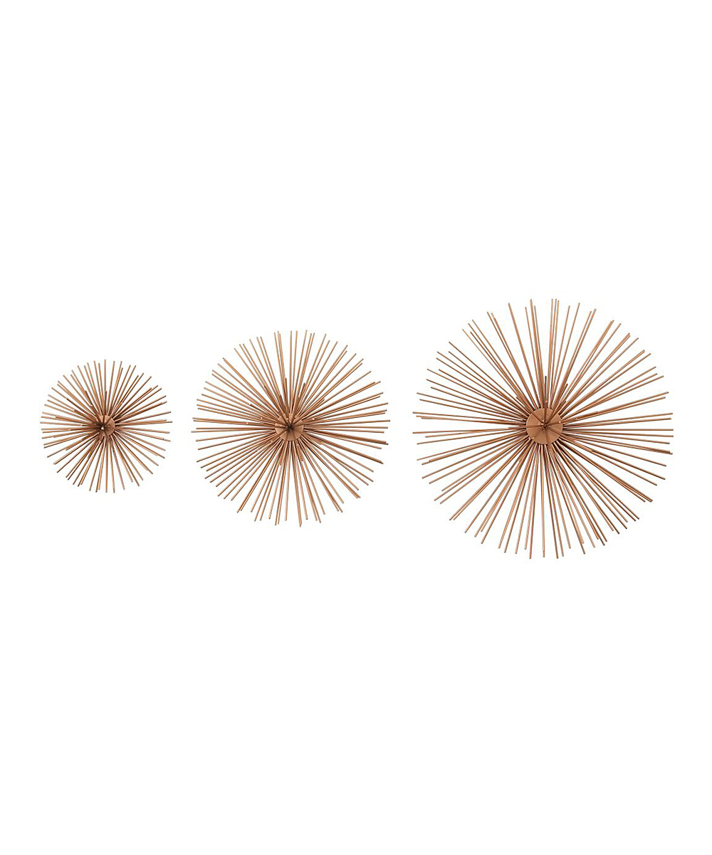 Recent Cosmolivingcosmopolitan Coppertone Starburst Wall Décor – Set Of Throughout Metal Wall Decor By Cosmoliving (View 17 of 20)