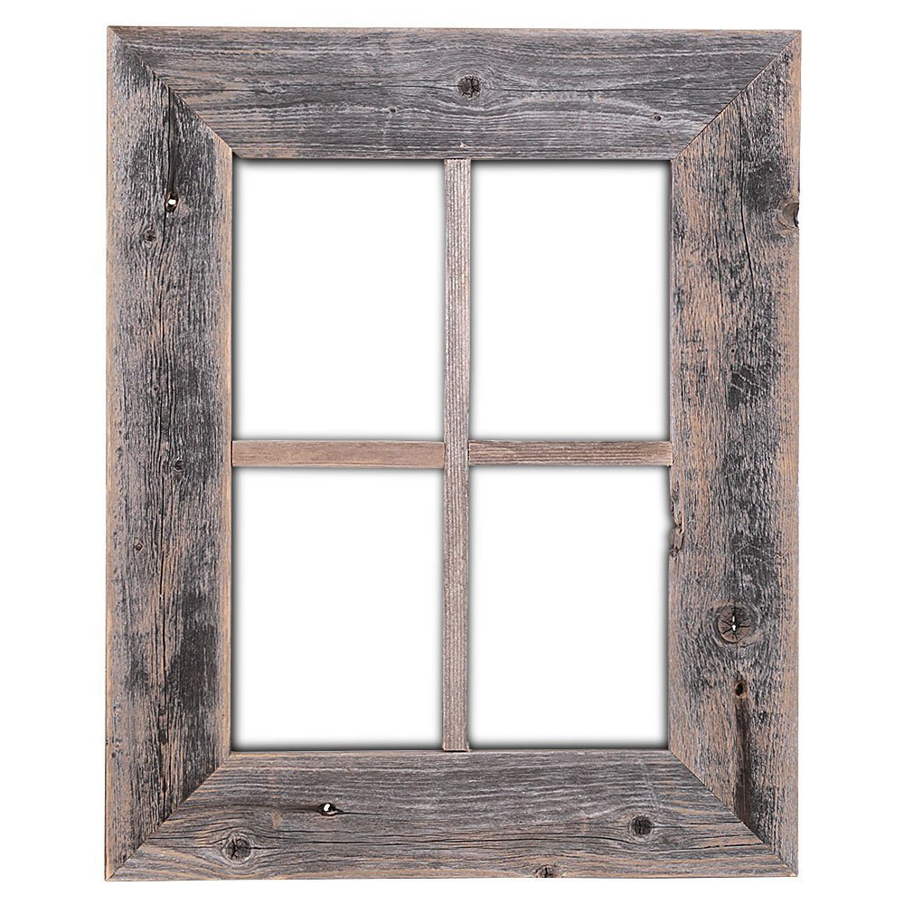 Recent Old Rustic Barn Window Frame Pertaining To Amazon: Old Rustic Window Barnwood Frames – Not For Pictures (Gallery 2 of 20)