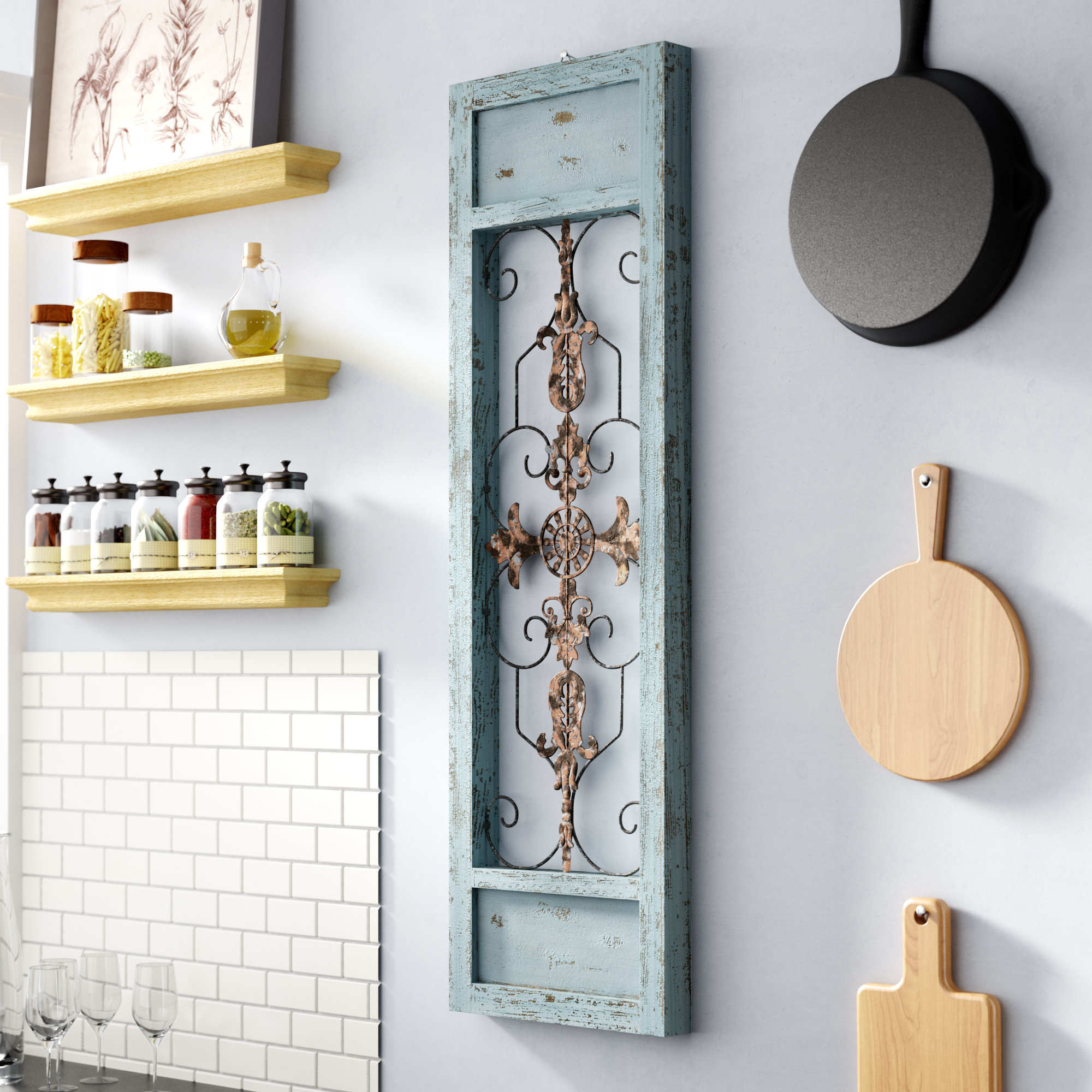 Recent Ornate Scroll Wall Decor Inside Lark Manor Ornamental Wood And Metal Scroll Wall Décor & Reviews (View 14 of 20)