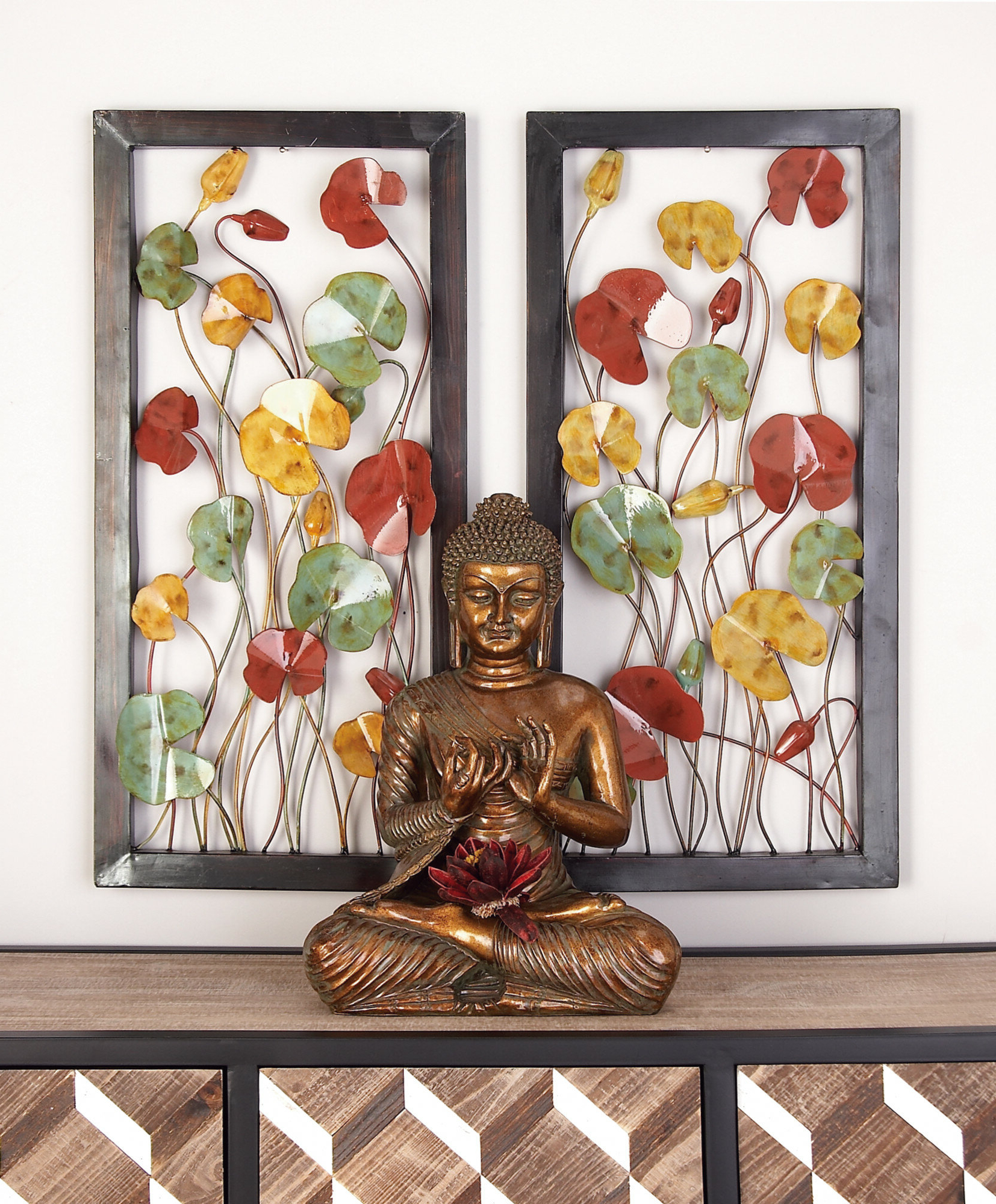 Red Barrel Studio Floral Metal Wall Décor Set & Reviews (Gallery 8 of 20)