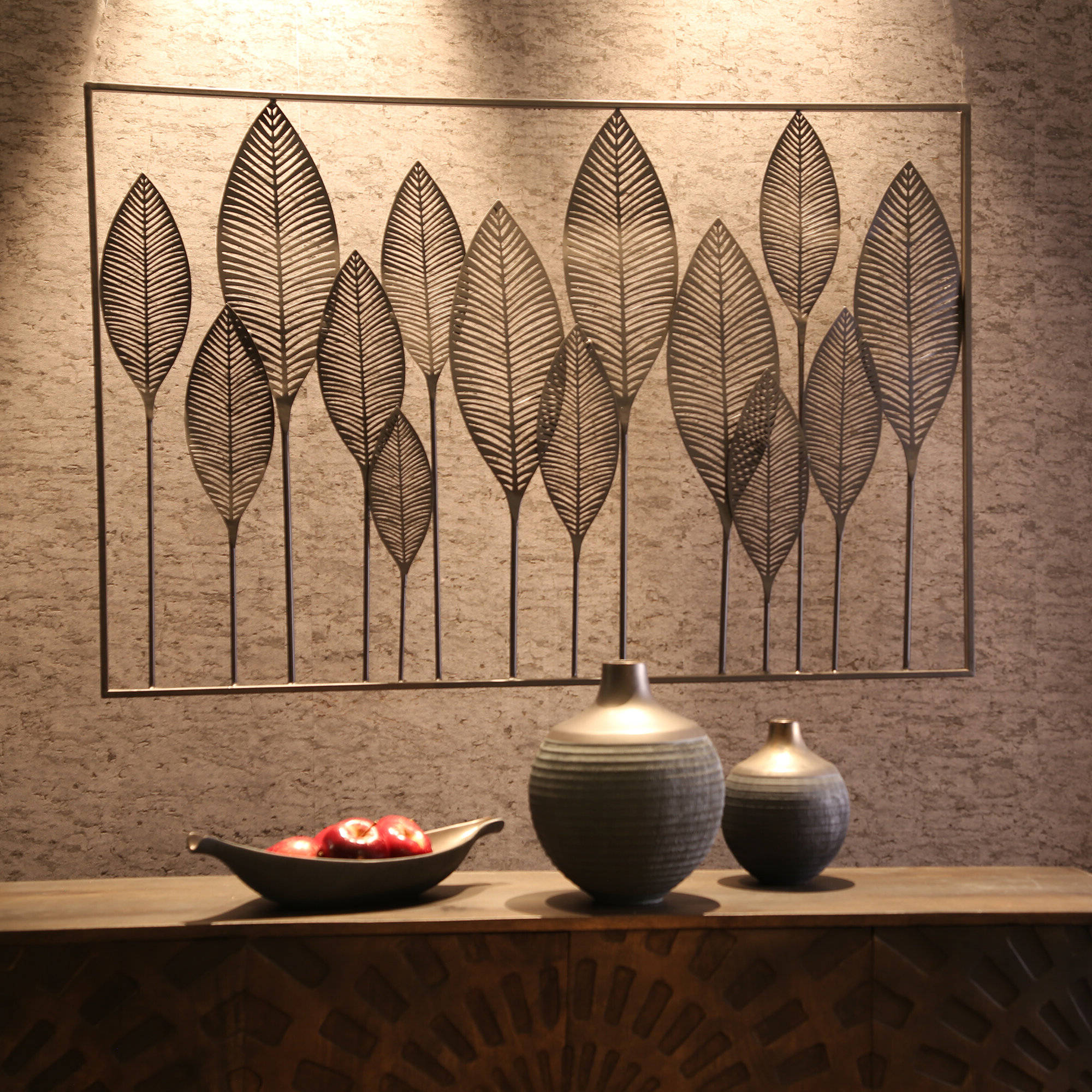 Featured Photo of Metal Leaf Wall Decor By Red Barrel Studio