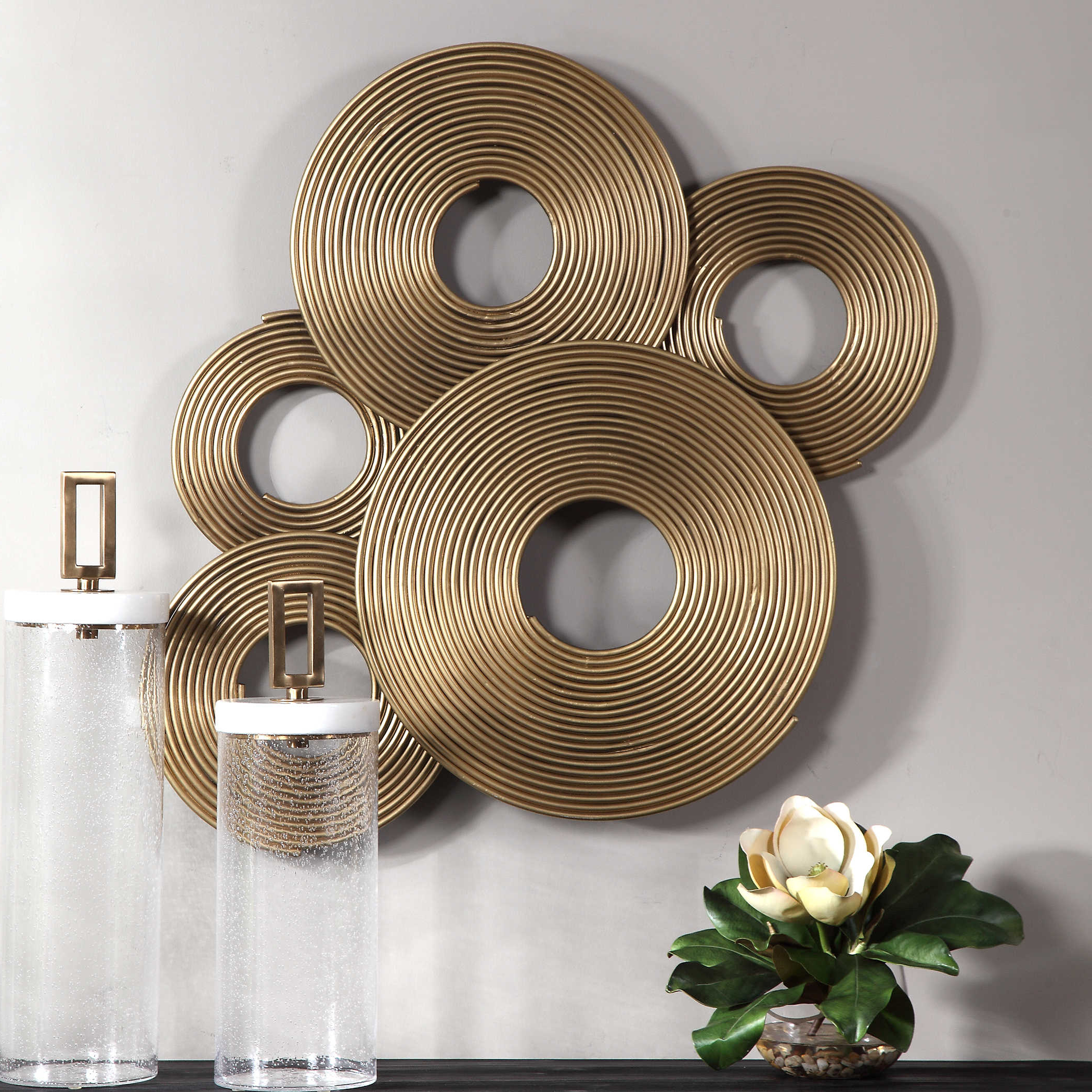 Rings Wall Decor Inside Favorite Uttermost Ahmet Gold Rings Wall Decor (View 8 of 20)