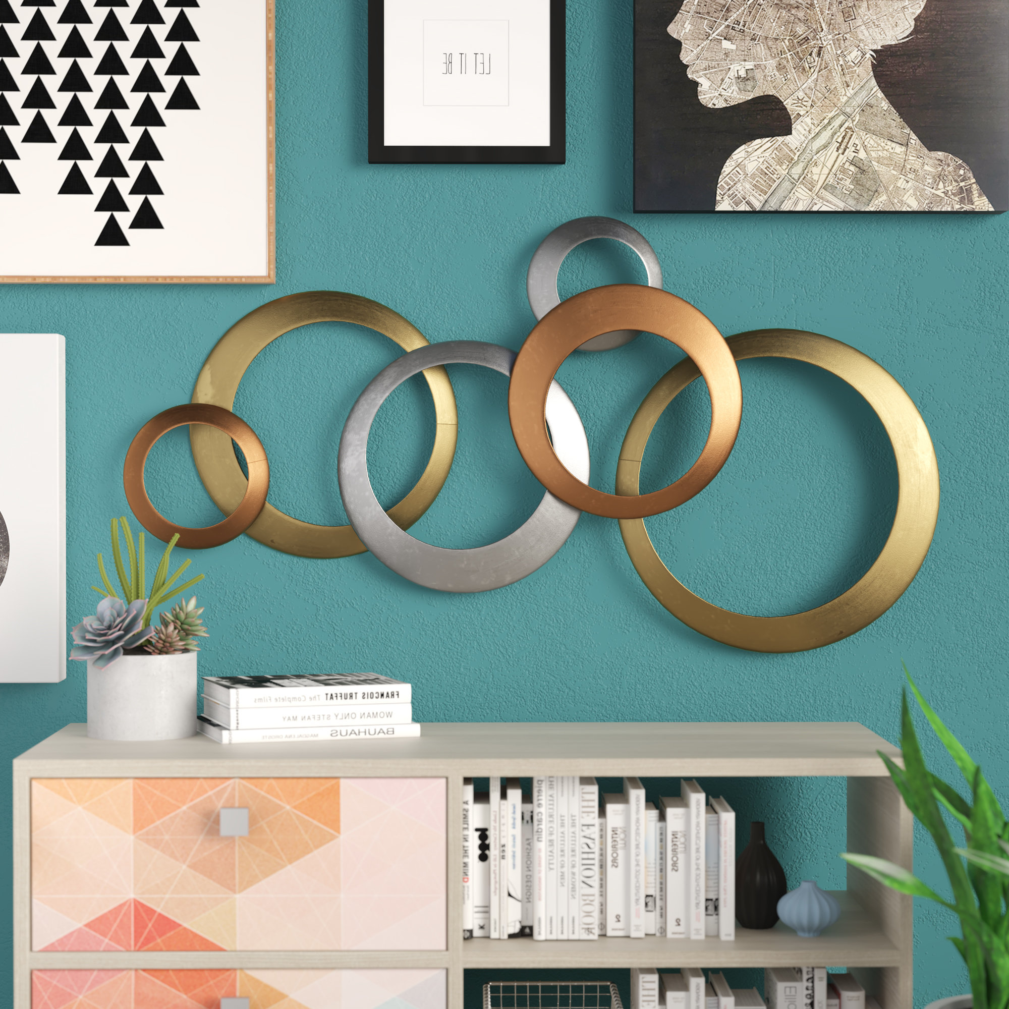 Rings Wall Decor Within 2019 Orren Ellis Multi Rings Wall Décor & Reviews (Gallery 10 of 20)