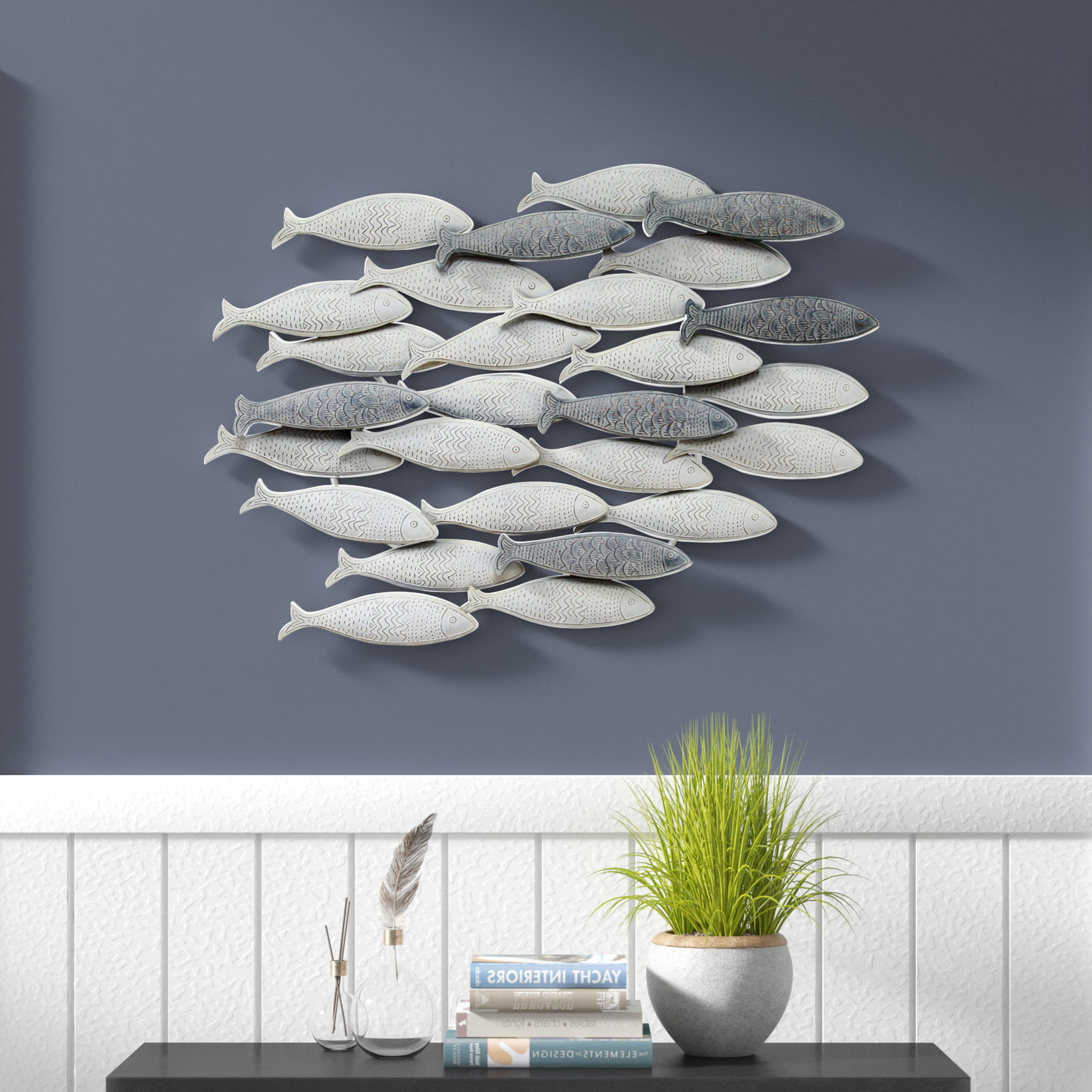 Rosecliff Heights School Of Fish Wall Décor & Reviews (View 14 of 20)