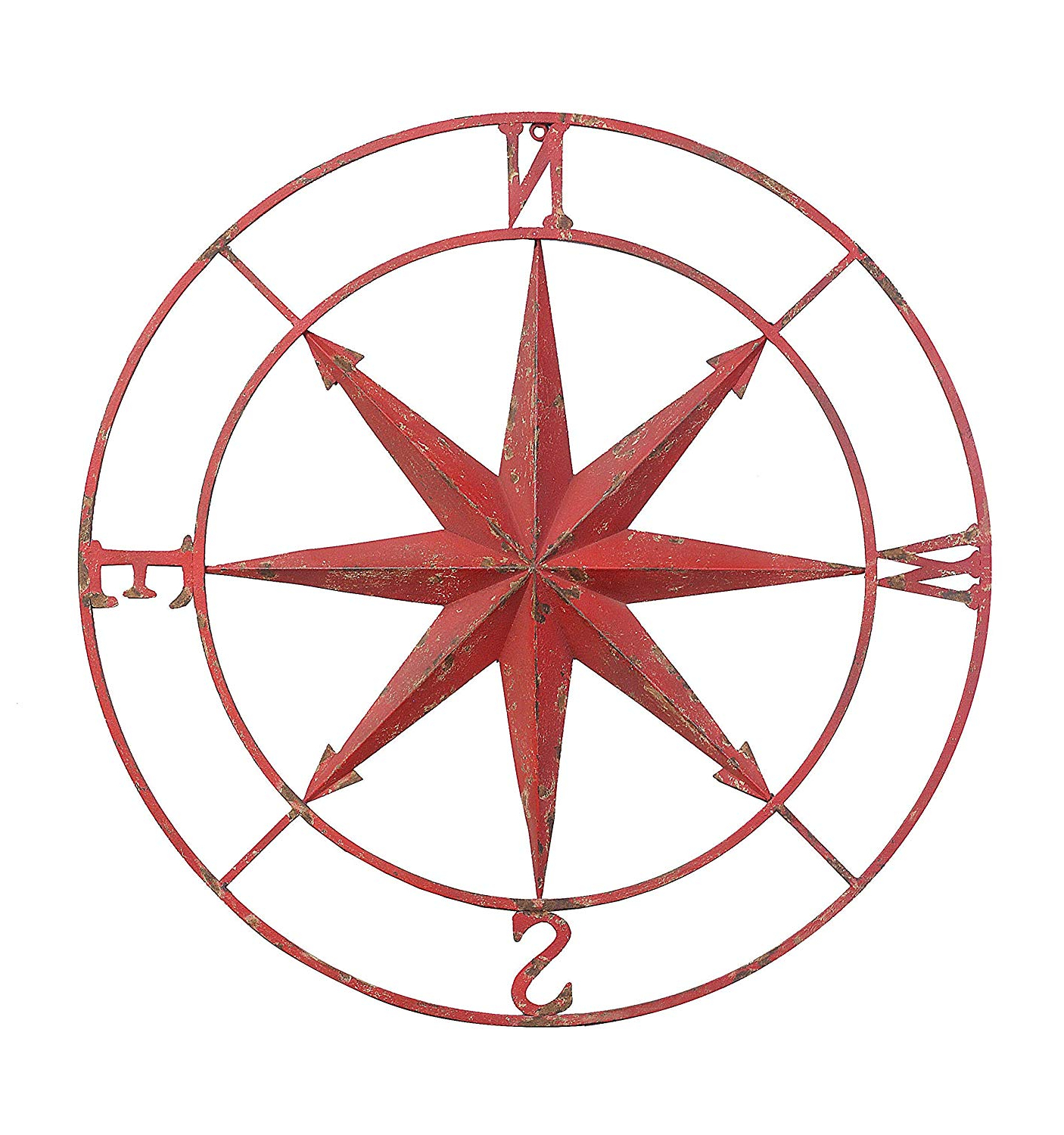 Round Compass Wall Decor Intended For Famous Amazon: Creative Co Op Decorative Round Metal Compass Wall Décor (View 14 of 20)
