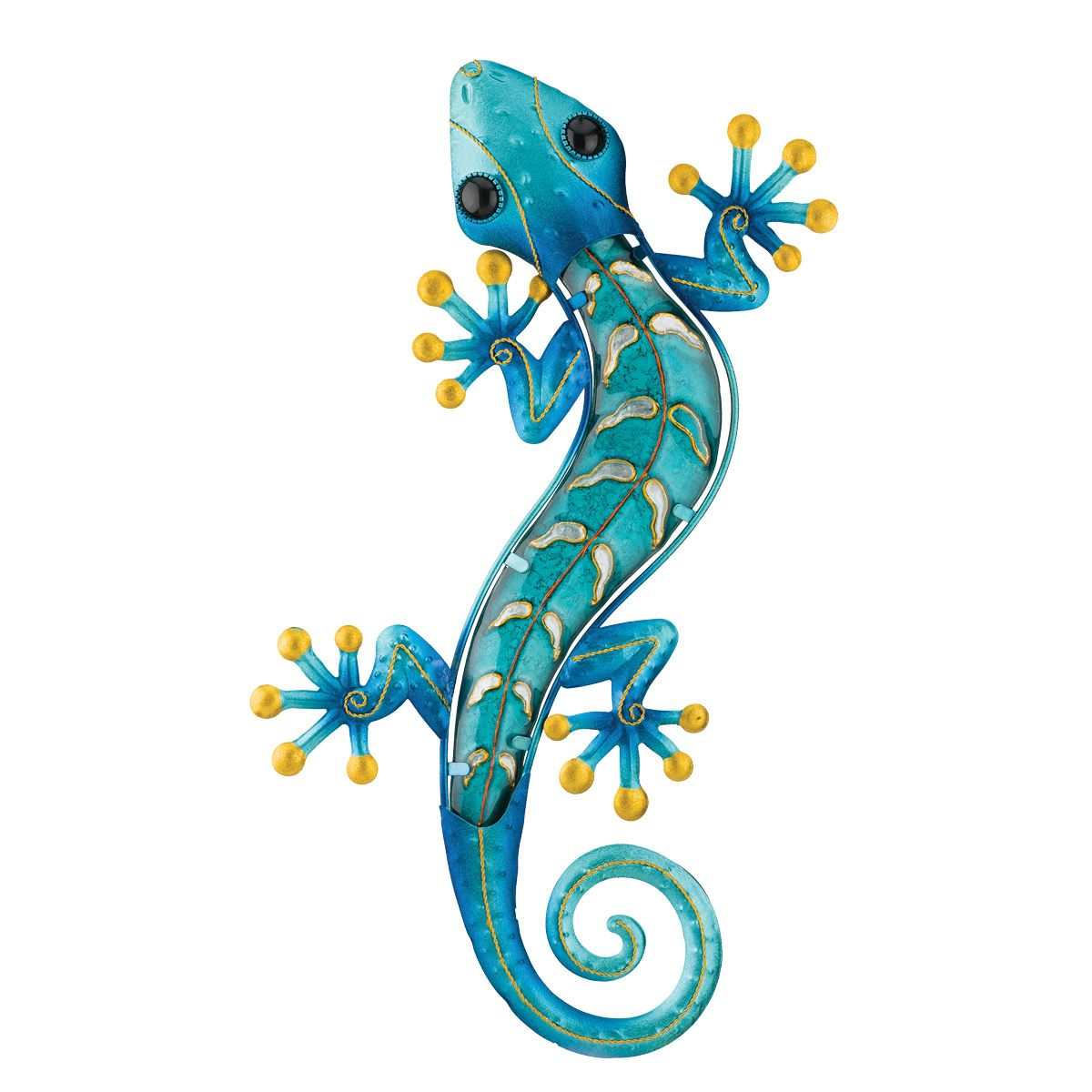 Rustic Metal Wall Art: Metal Gecko Wall Art – Blue Intended For Widely Used Gecko Wall Decor (View 8 of 20)