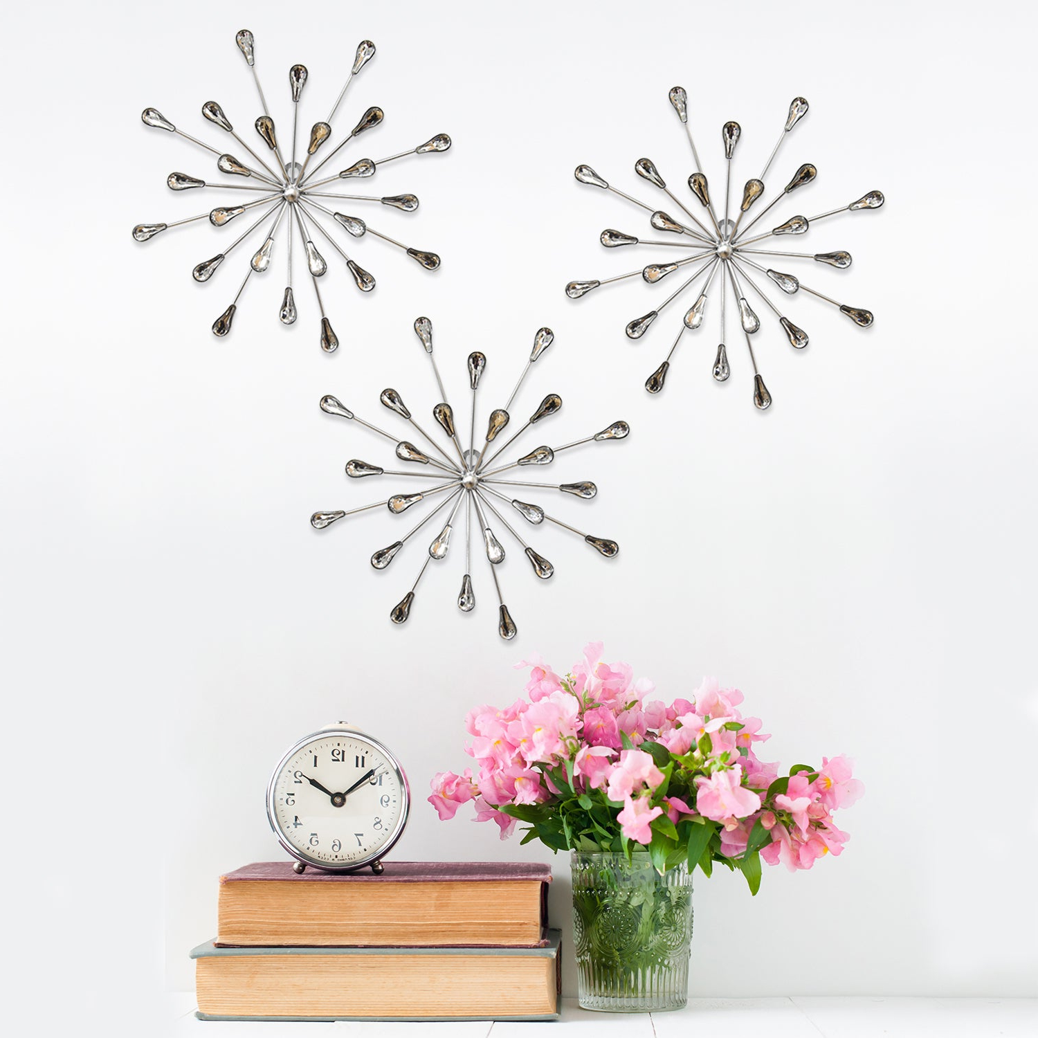 Shop Carson Carrington Arsta 'acrylic Burst' Wall Decor (Set Of 3 In Recent 2 Piece Starburst Wall Decor Sets (View 14 of 20)