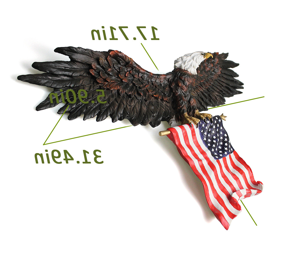 Shop For 3D American Eagle Wall Sculptures, Hanging Mount Art Wall With Most Recently Released American Pride 3D Wall Decor (View 9 of 20)