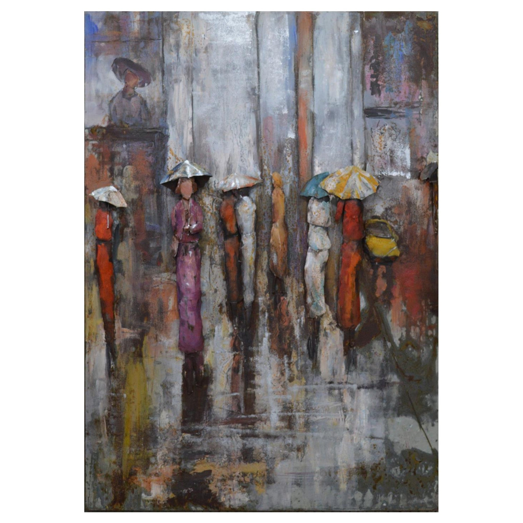 "Shop ""paris Rain"" Mixed Media Iron Hand Painted Dimensional Wall Throughout Most Current Mixed Media Iron Hand Painted Dimensional Wall Decor (View 13 of 20)"