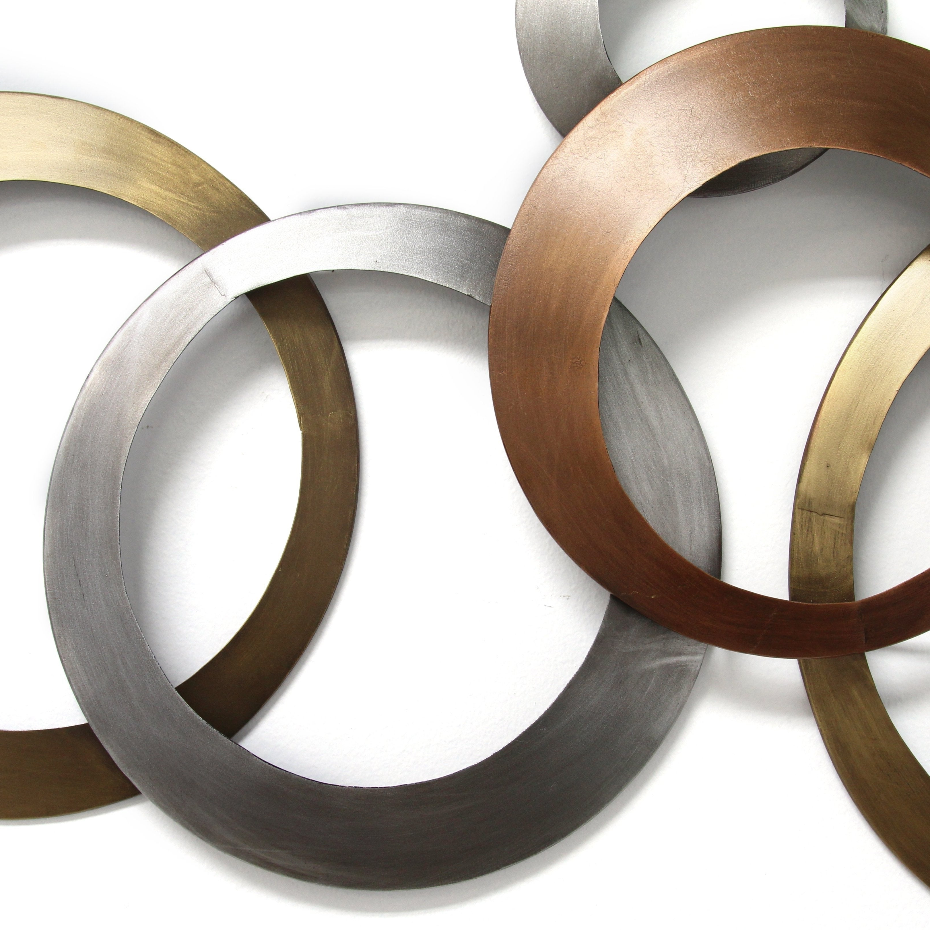 Shop Stratton Home Decor Multi Metallic Rings Wall Decor – Free Throughout Most Current Rings Wall Decor (Gallery 20 of 20)