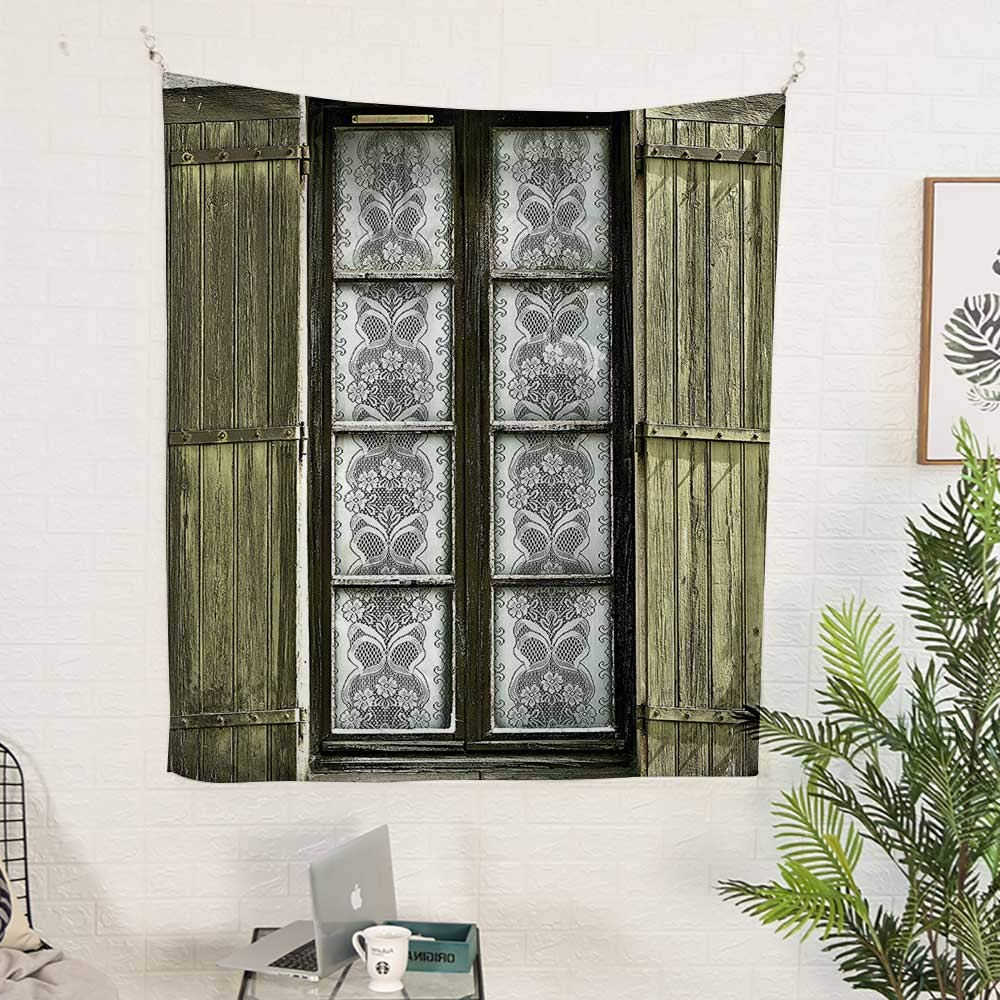 Shutter Window Hanging Wall Decor Inside Newest Amazon: Polyester Tapestry Wall Hanging (40W X 60L Inch) Wall (View 14 of 20)