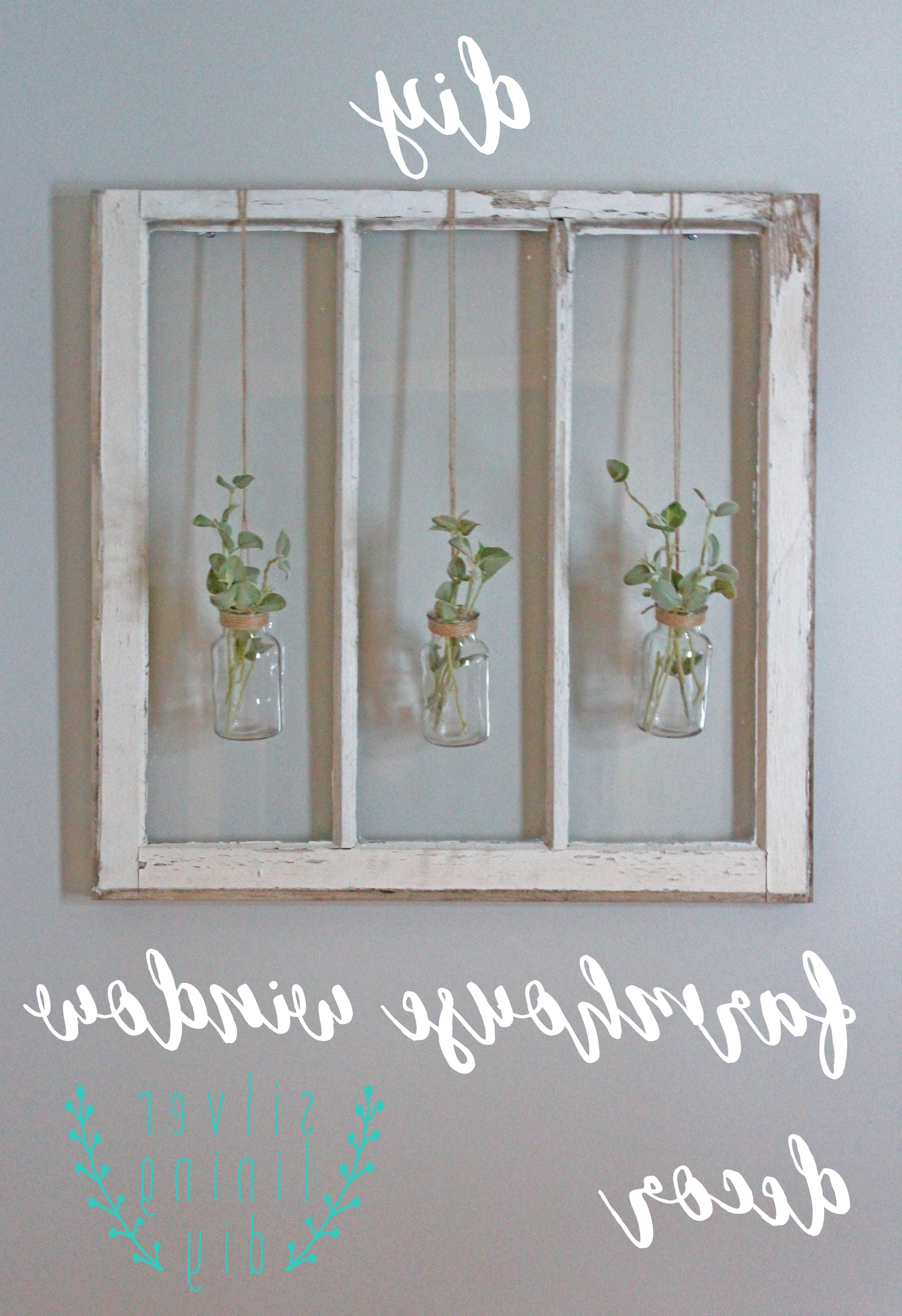 Shutter Window Hanging Wall Decor With Best And Newest Have A Ton Of Old Barn Windows Hanging Around Your House? Follow (View 4 of 20)