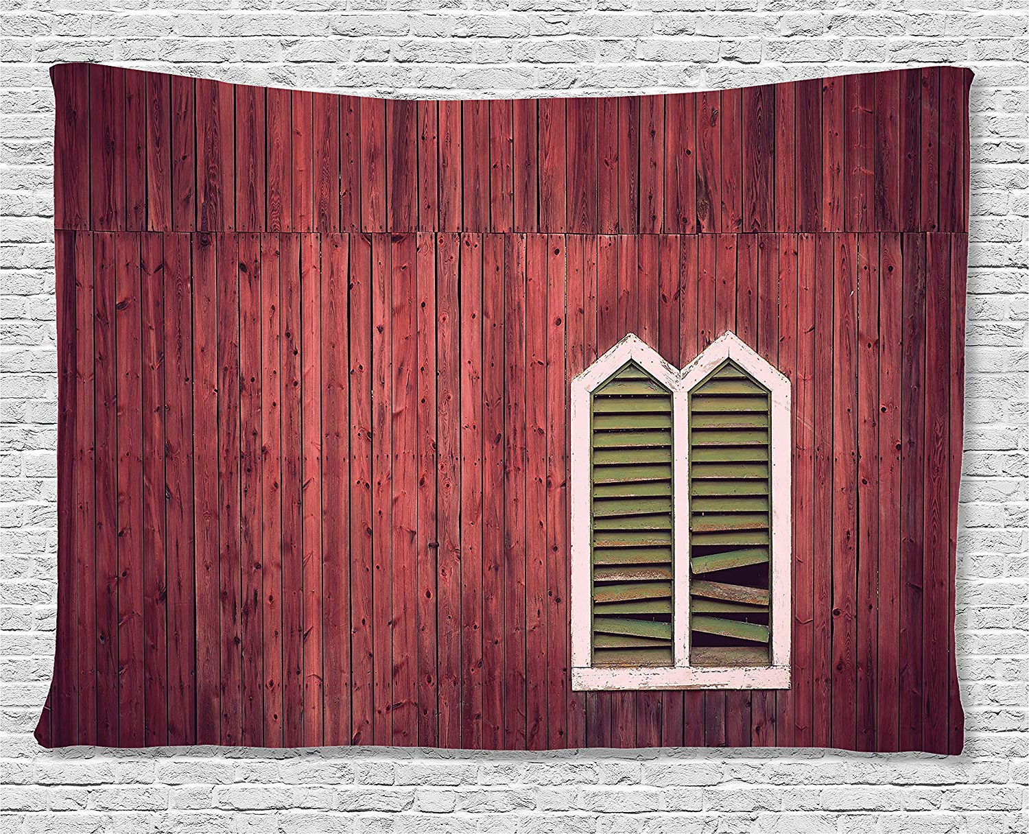Shutter Window Hanging Wall Decor With Famous Amazon: Ambesonne Shutters Decor Collection, Wooden Rustic Wall (View 9 of 20)