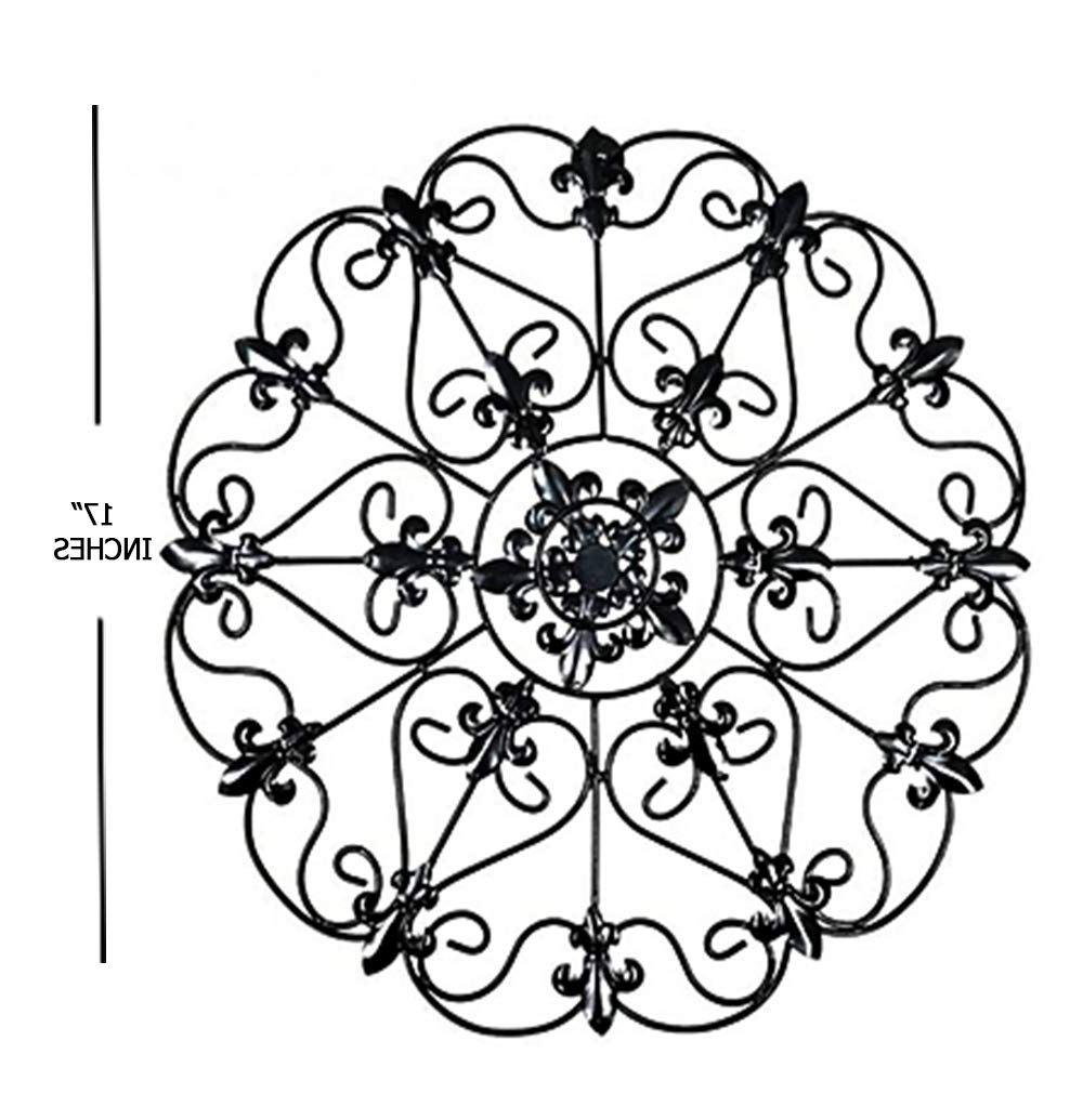 Small Medallion Wall Decor Throughout Well Liked Amazon: The Lakeside Collection Iron Wall Medallion – Authentic (Gallery 16 of 20)