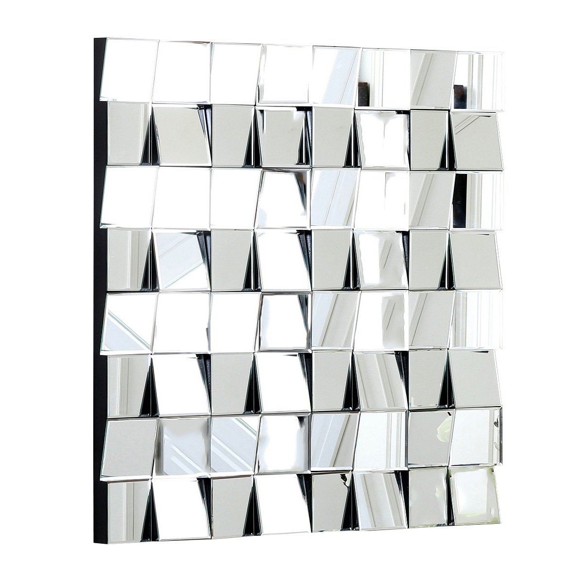 Square Silver Wall Mirror & Reviews (Gallery 12 of 20)